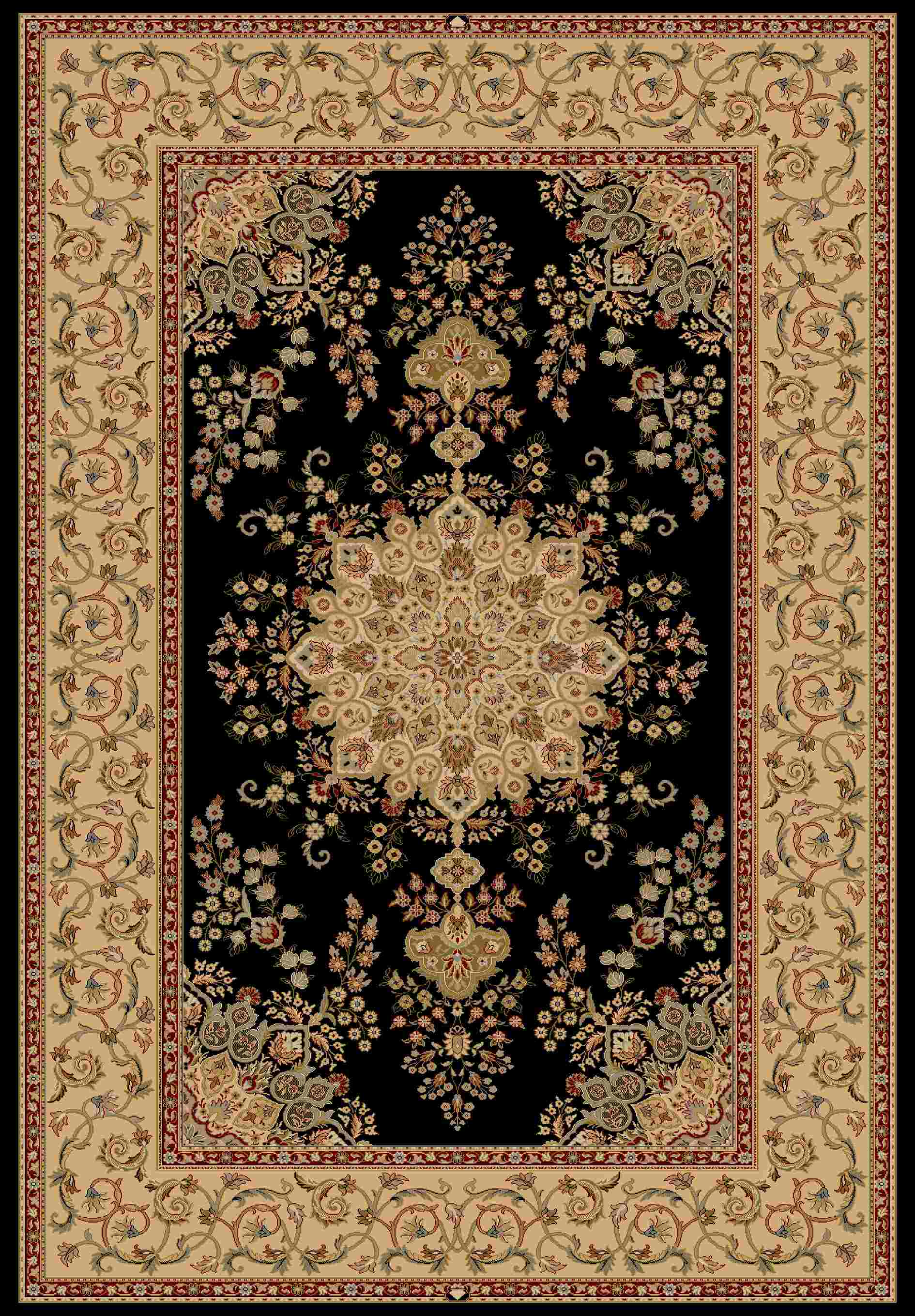 Dynamic Rugs Brilliant Classic Black 7201 Area Rug
