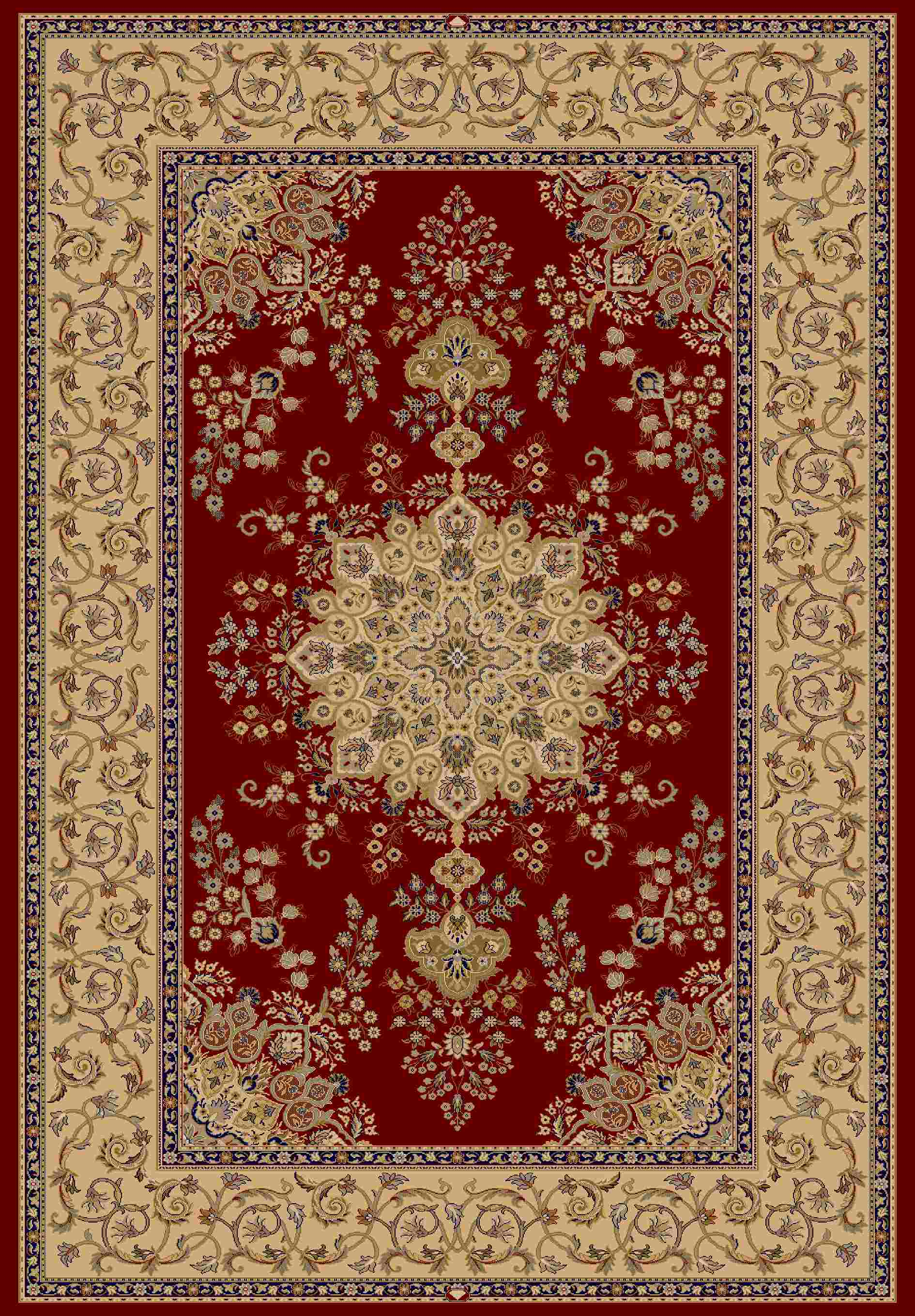Dynamic Rugs Brilliant Classic Red 7201 Area Rug