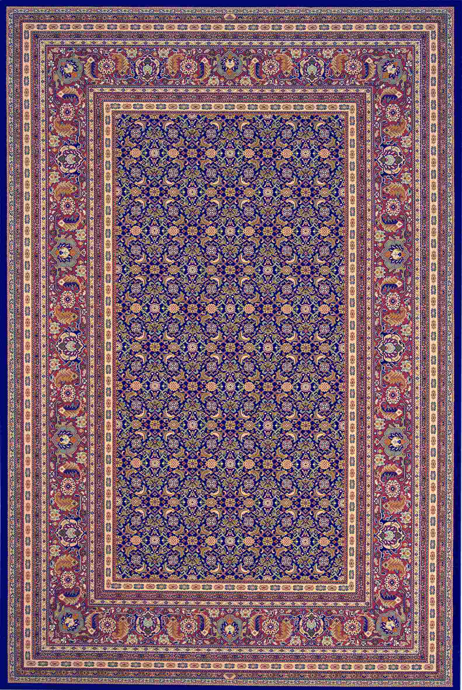 Dynamic Rugs Brilliant Classic Navy 72240 Area Rug