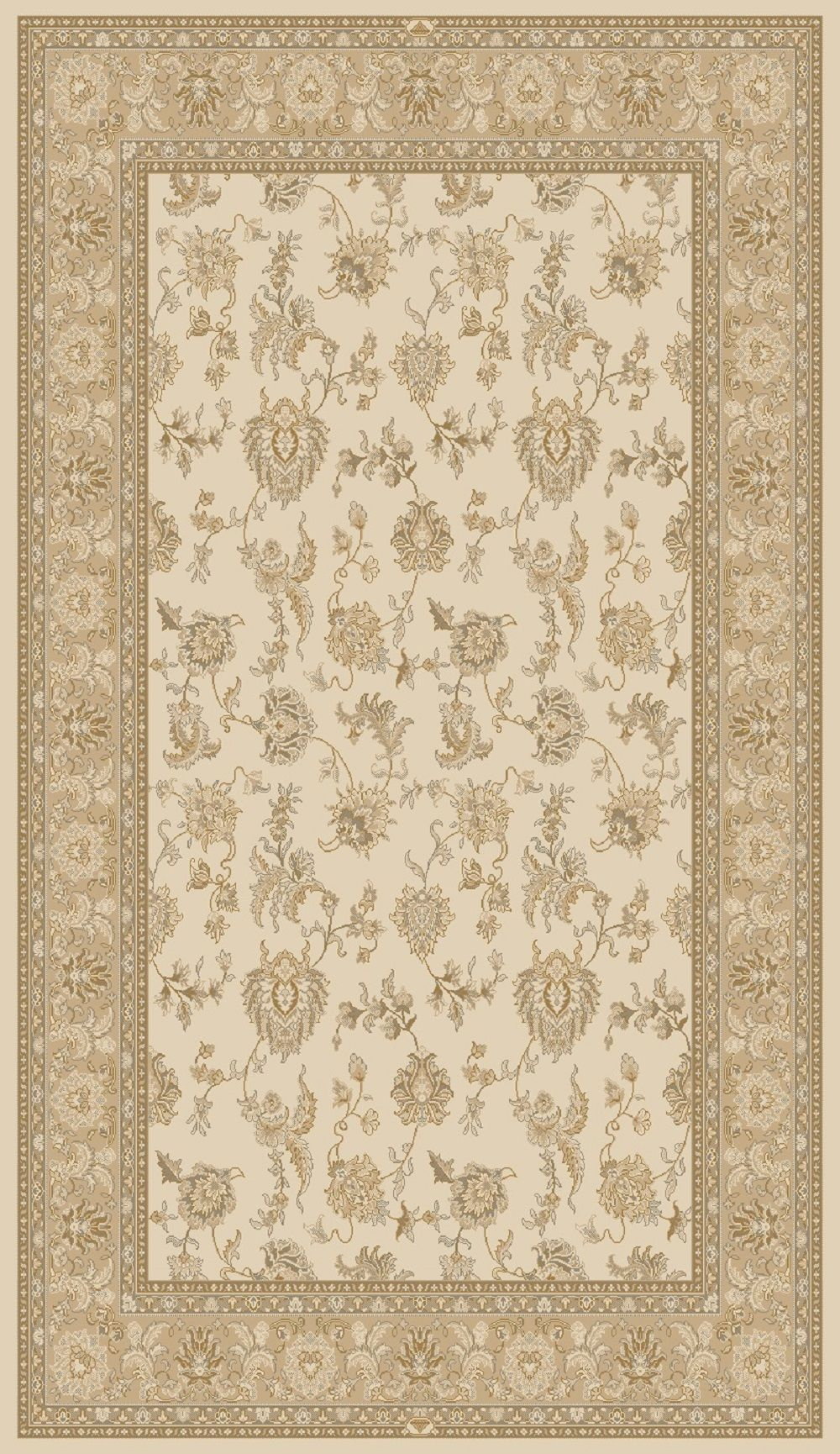 Dynamic Rugs Brilliant Classic Ivory 7226 Area Rug