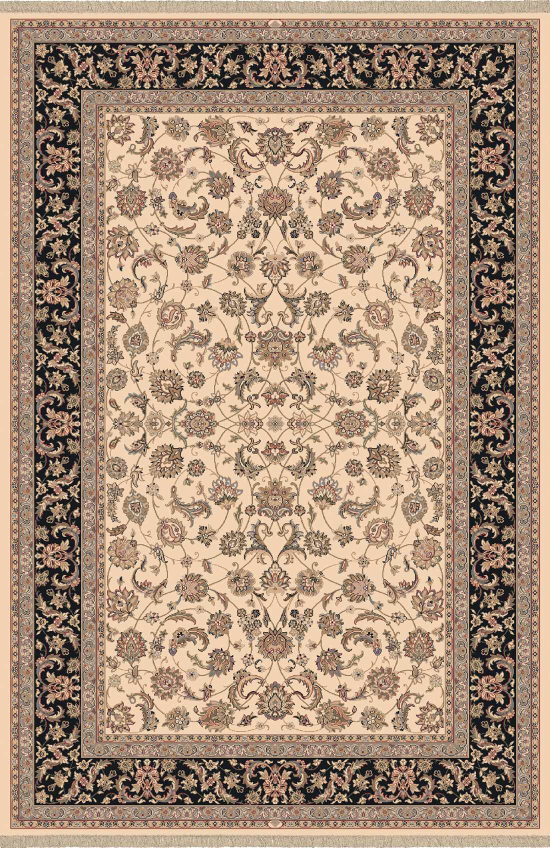 Dynamic Rugs Brilliant Classic Ivory 72284 Area Rug
