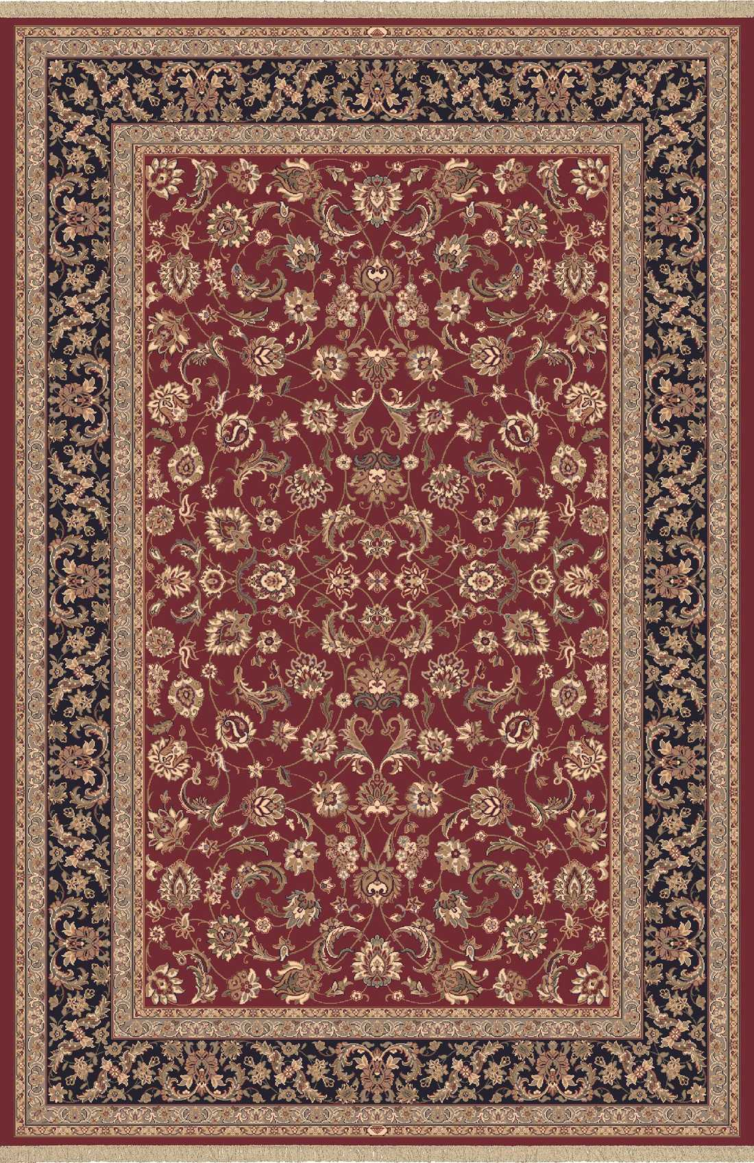Dynamic Rugs Brilliant Classic Red 72284 Area Rug
