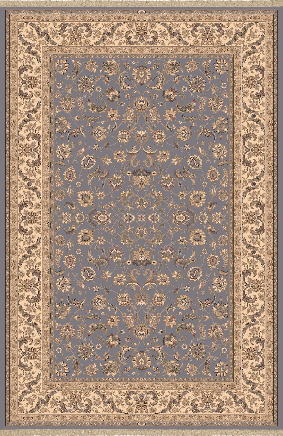 Dynamic Rugs Brilliant Classic Blue 72284 Area Rug
