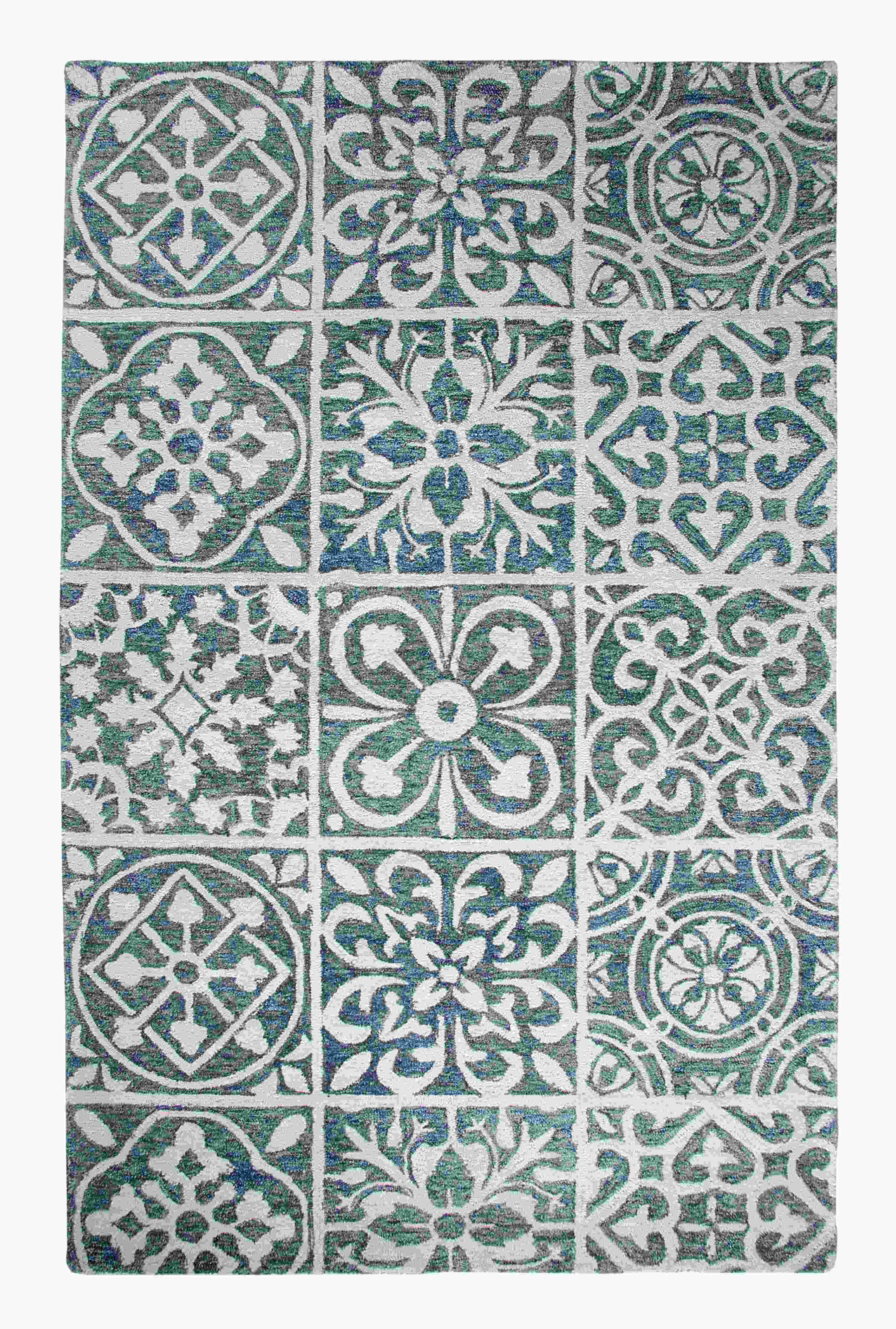 Dynamic Rugs Casual Global Blue 92334 Area Rug