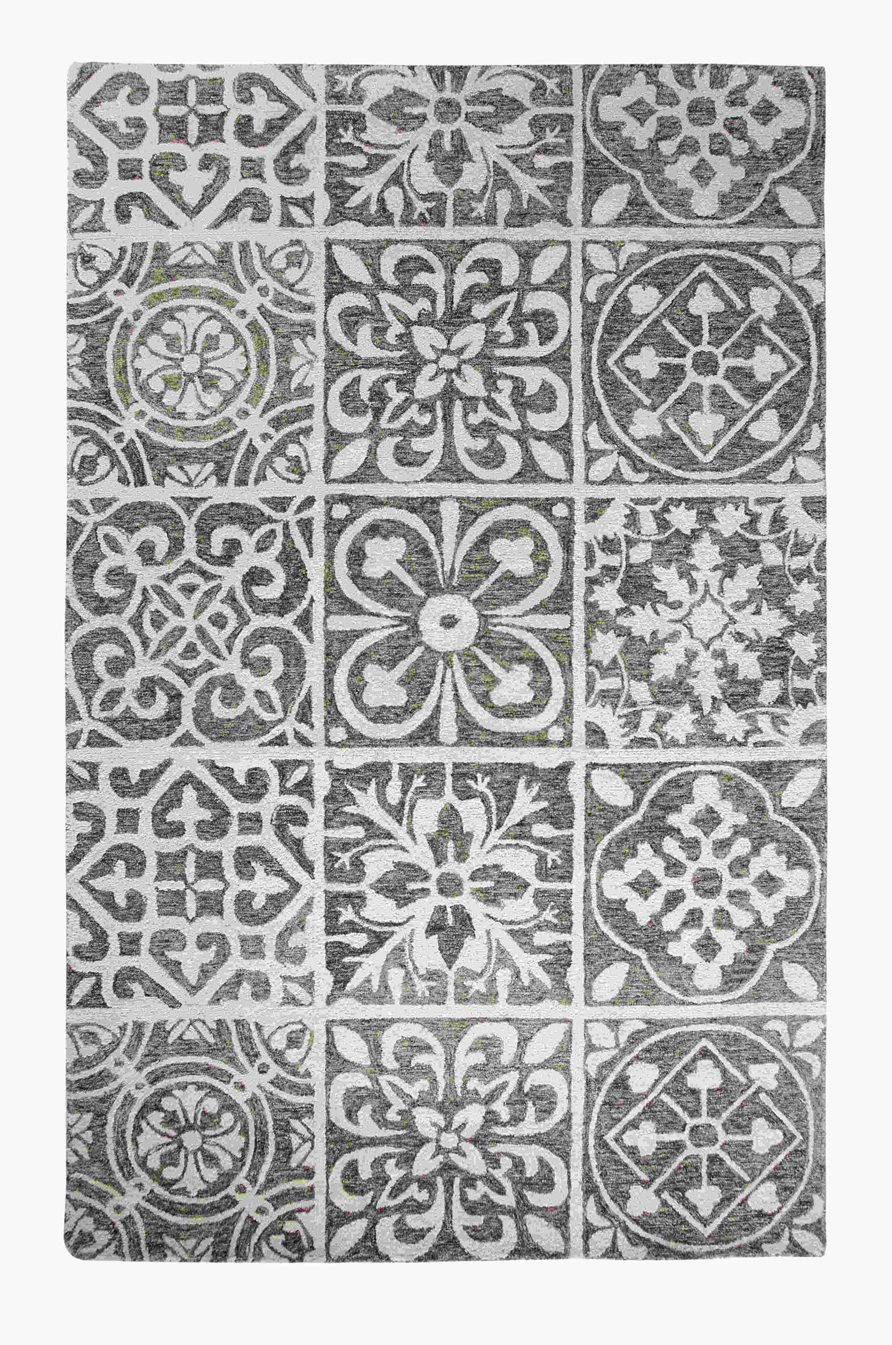 Dynamic Rugs Casual Global Silver/charcoal 92334 Area Rug