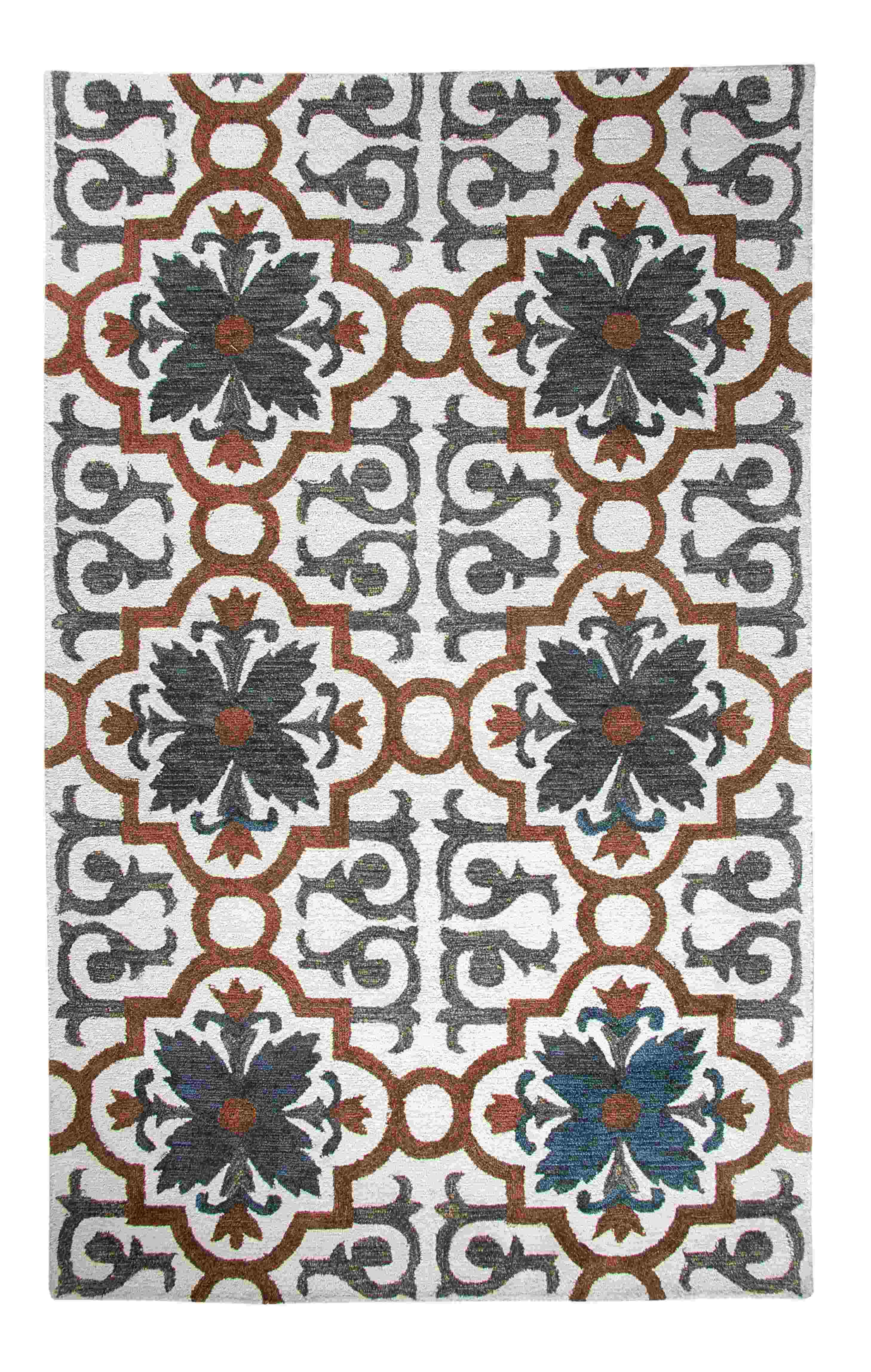 Dynamic Rugs Casual Global Rust/blue 92336 Area Rug