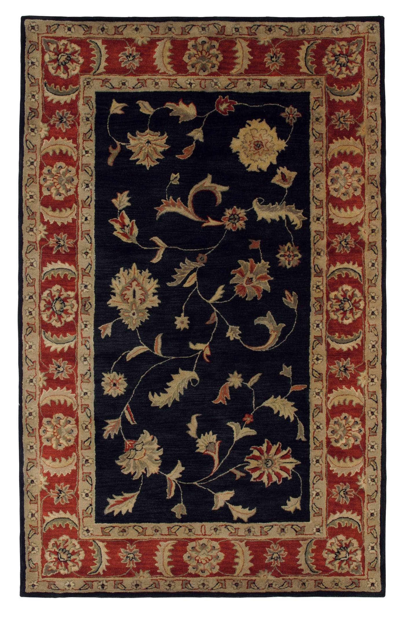 Dynamic Rugs Charisma Classic Blk/rd 1401 Area Rug