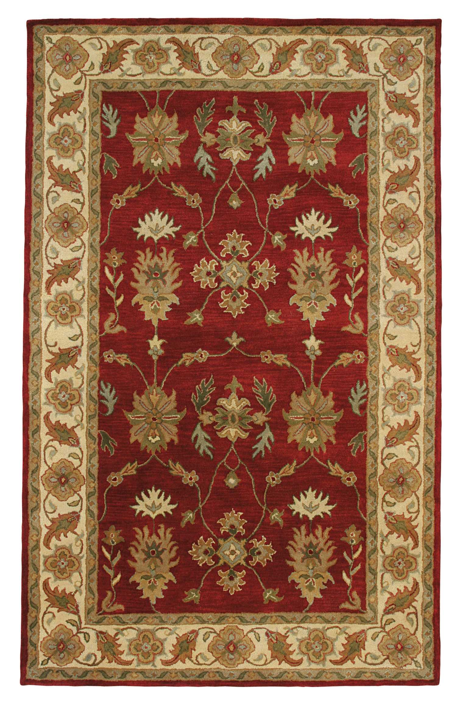 Dynamic Rugs Charisma Classic Red/ivory 1403 Area Rug