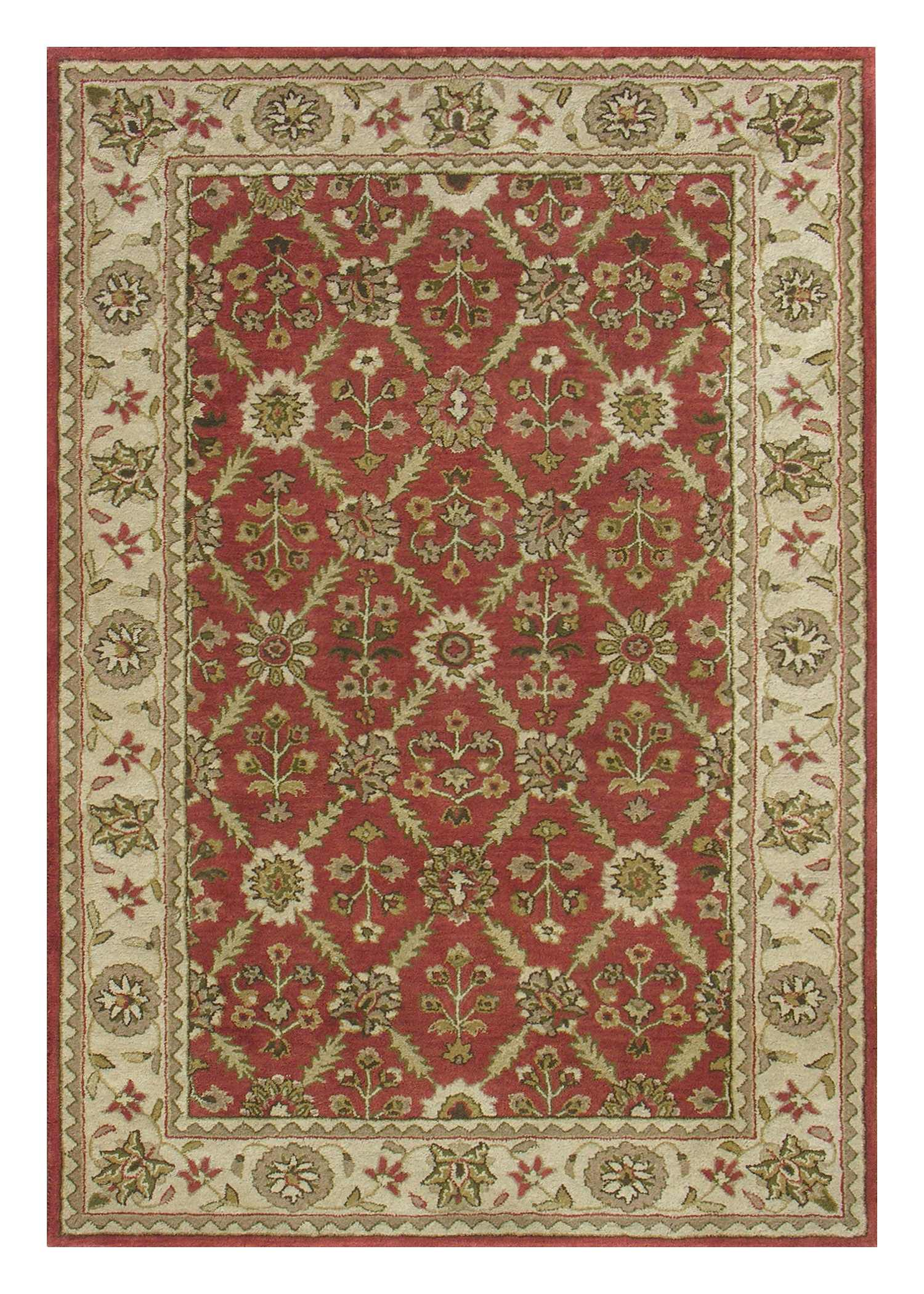 Dynamic Rugs Charisma Classic Red/ivory 1413 Area Rug