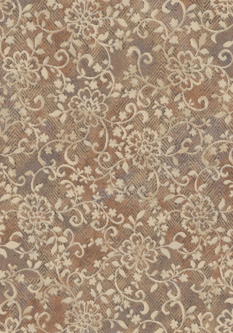 Dynamic Rugs Eclipse Floral Copper 63293 Area Rug