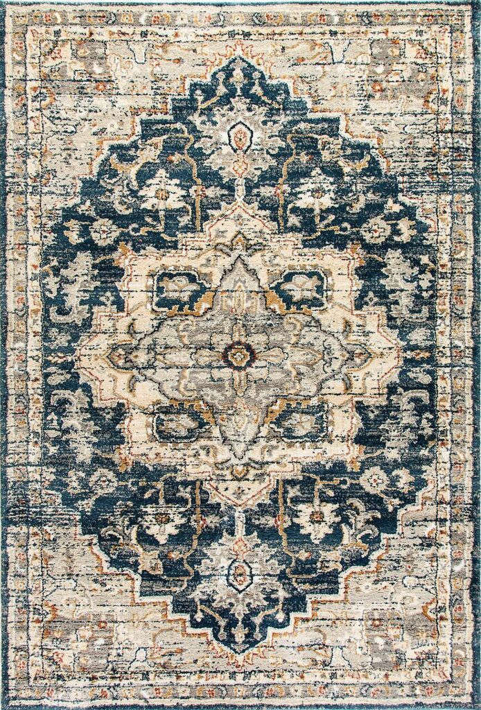 Dynamic Evolution Navy Traditional Rug 4770-550