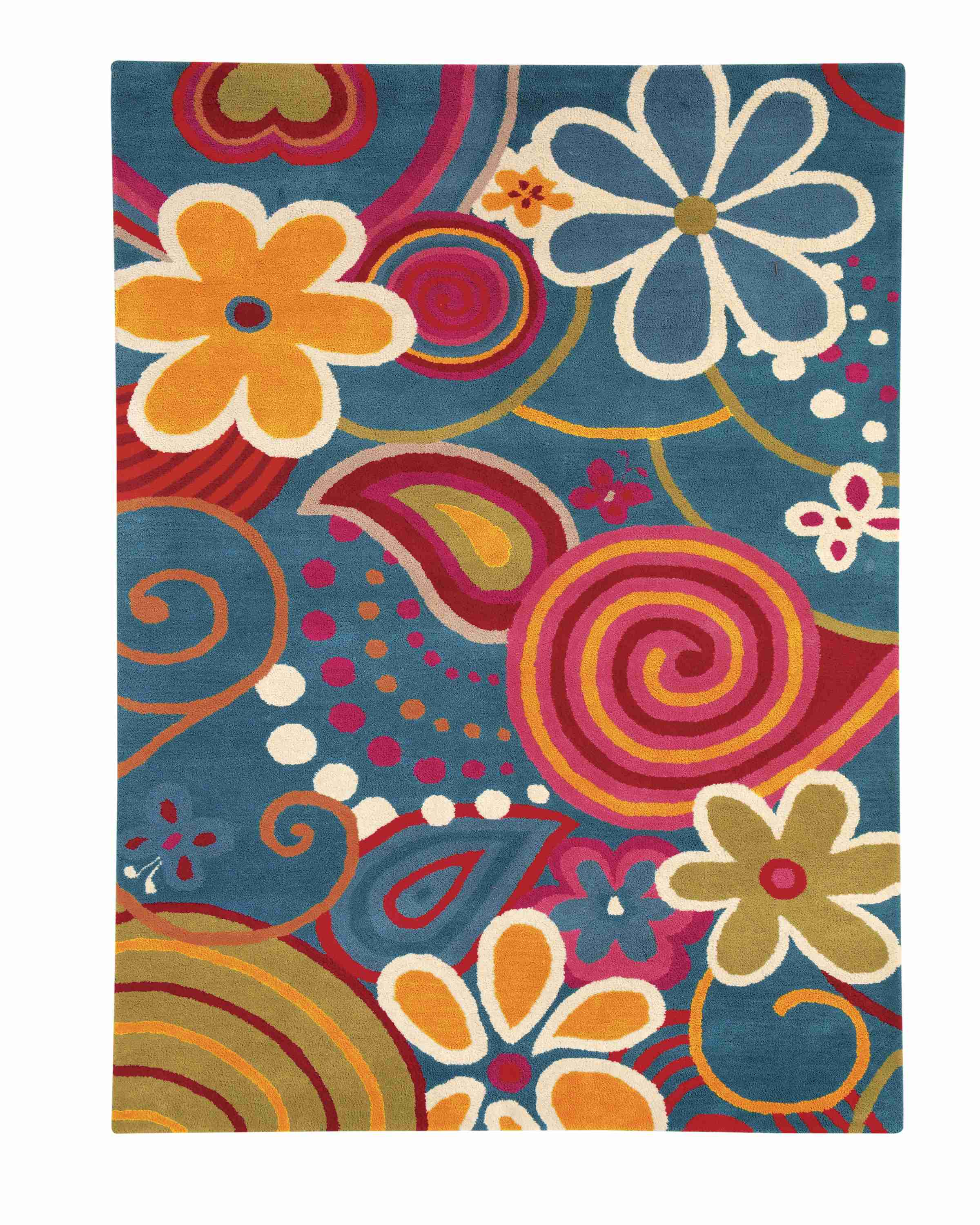 Dynamic Rugs Fantasia Floral Turquoise 1704 Area Rug