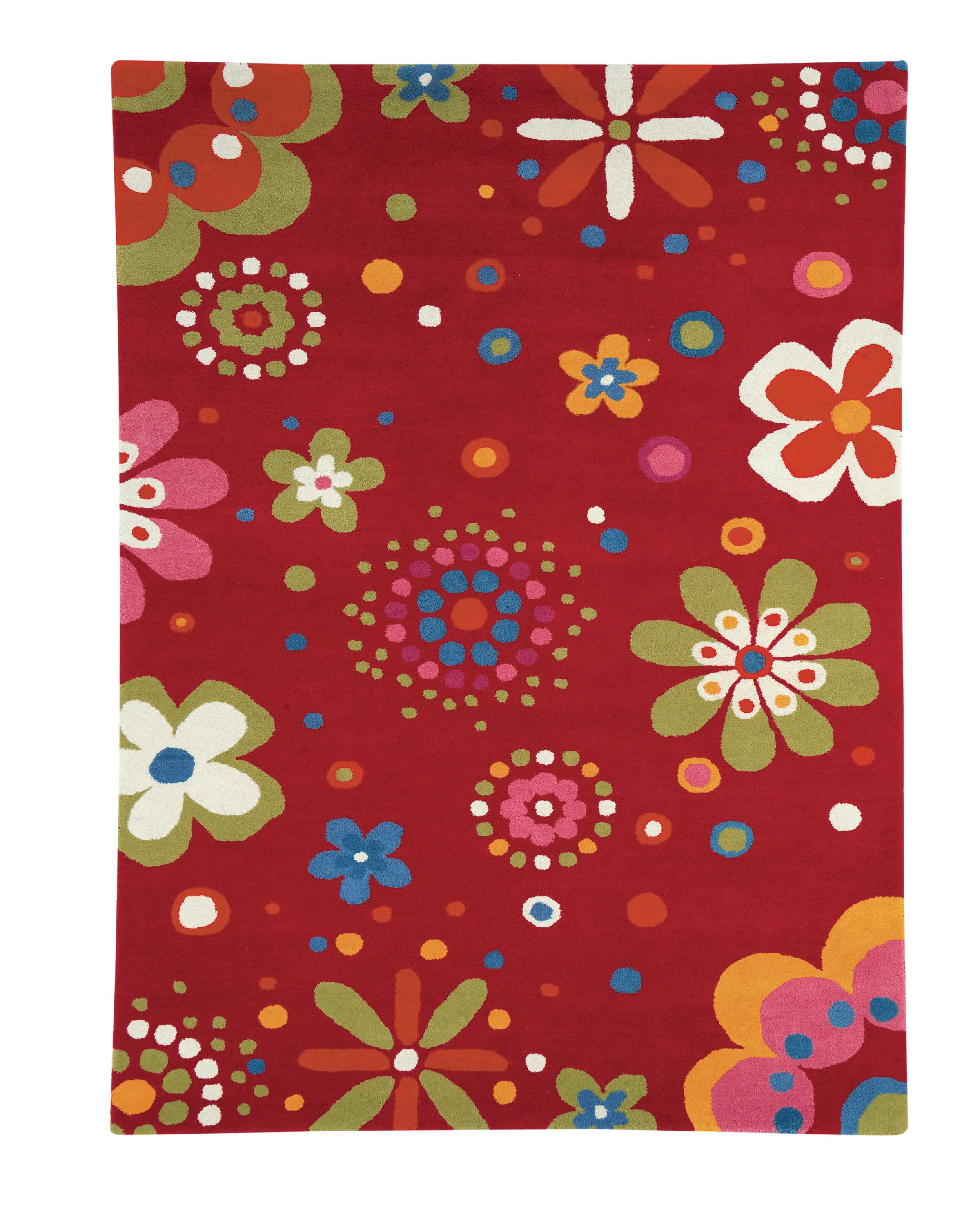 Dynamic Rugs Fantasia Floral Red 1705 Area Rug