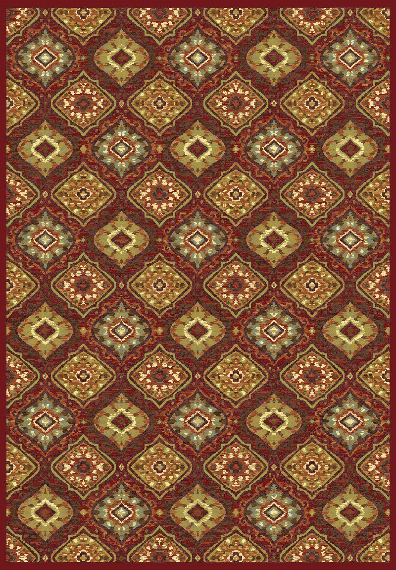 Dynamic Rugs Genova Medallion/damask 38413 Area Rug