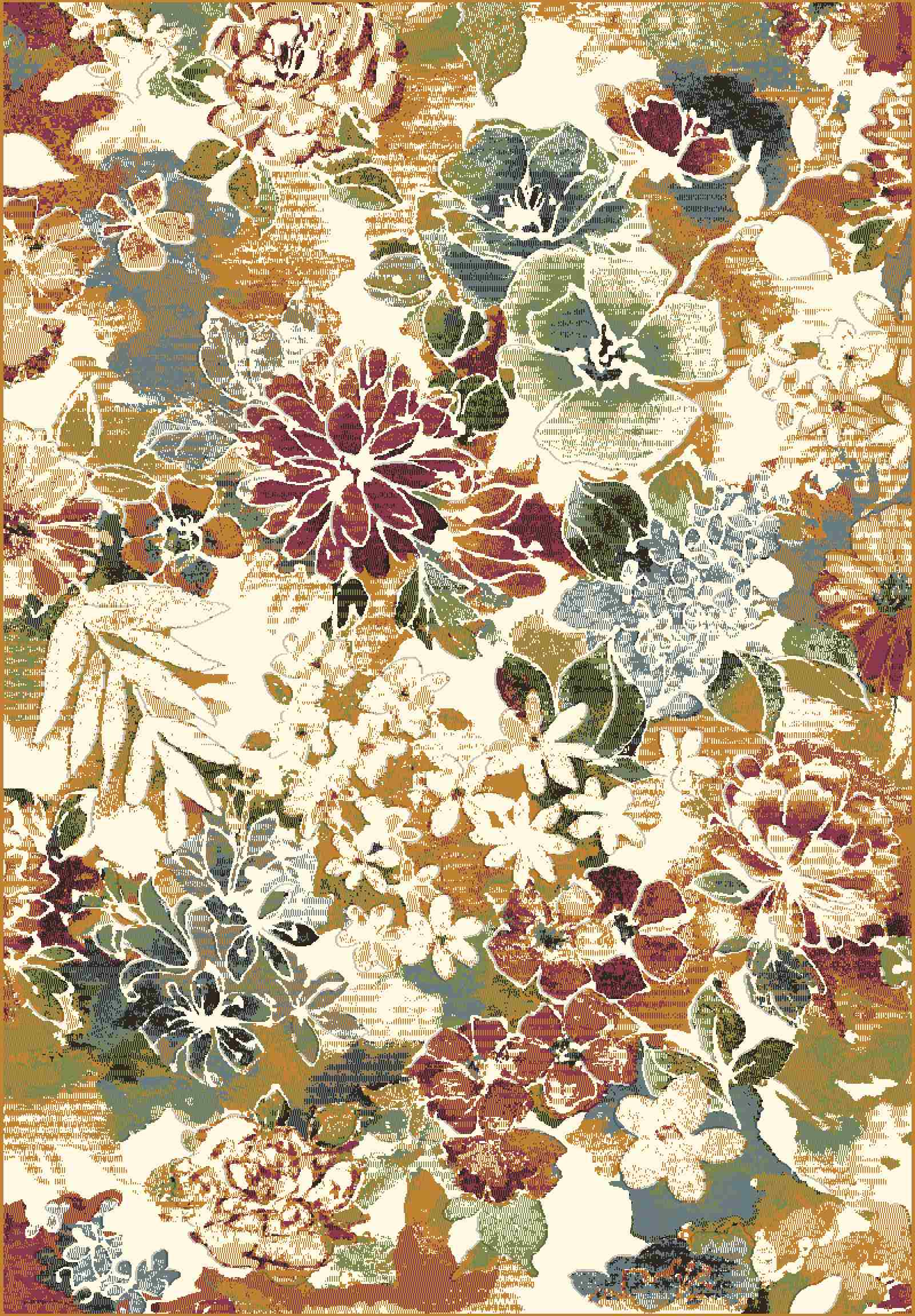 Dynamic Rugs Heritage Floral 89312 Area Rug