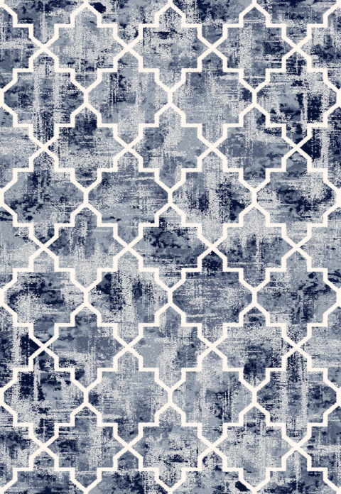 Dynamic Rugs Infinity Geometric Blue 32042 Area Rug