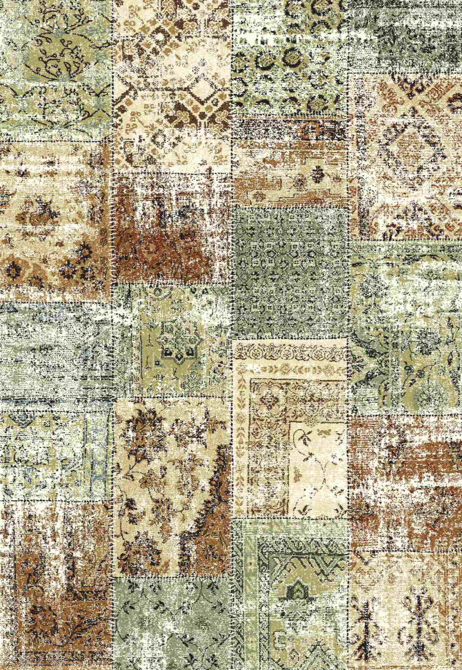 Dynamic Rugs Infinity Distressed Light Multi 32487 Area Rug