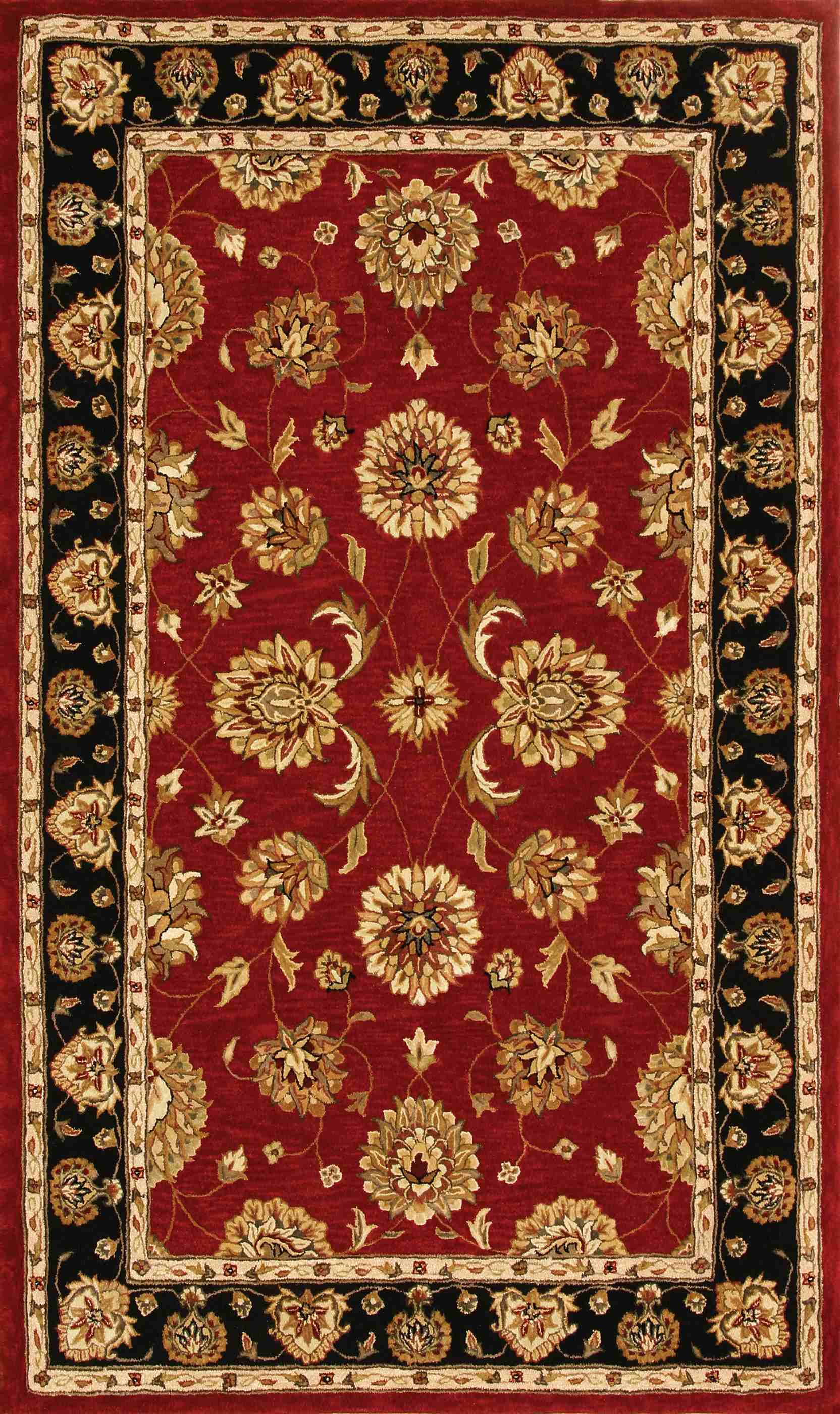 Dynamic Rugs Jewel Classic Red/black 70230 Area Rug