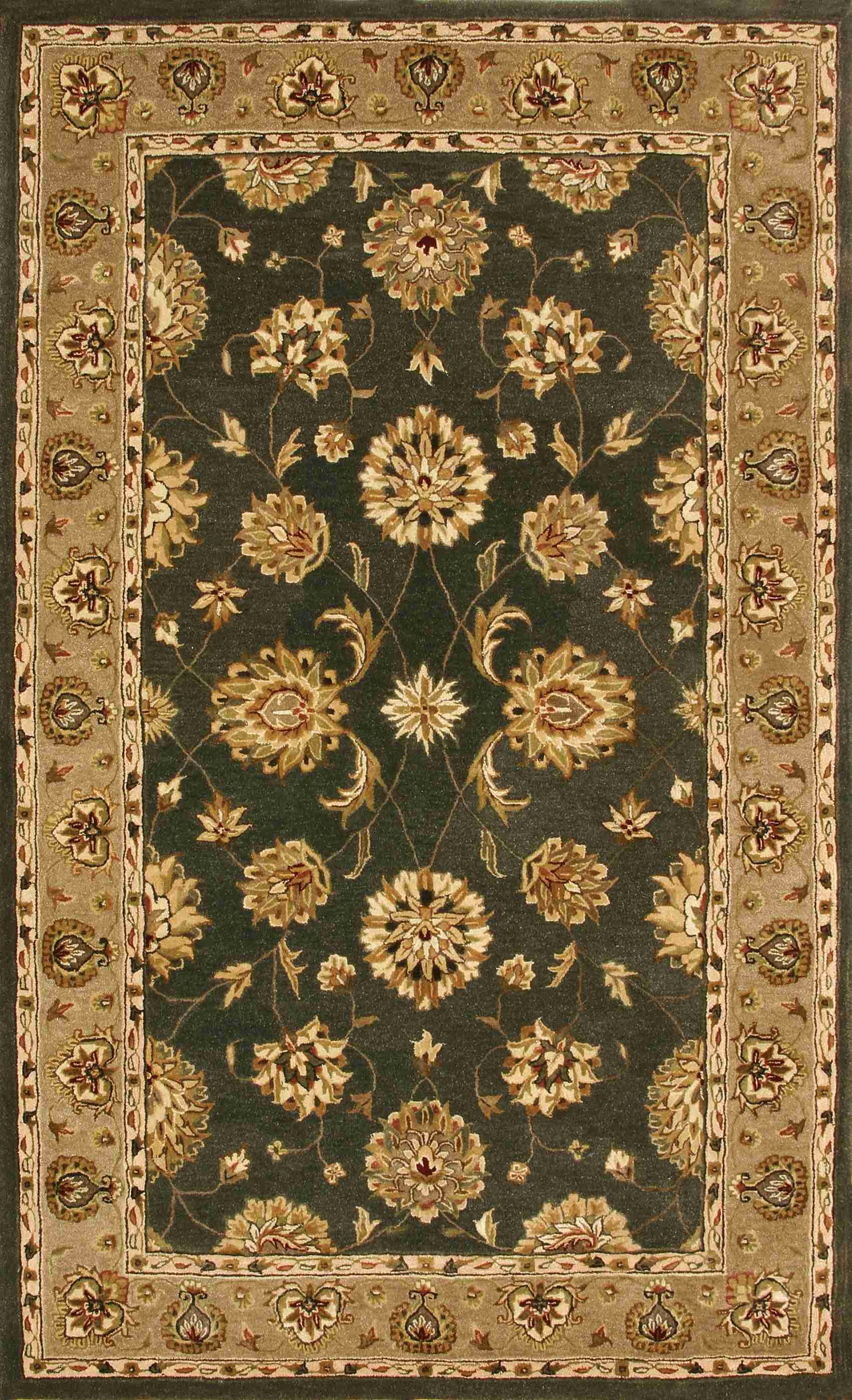 Dynamic Rugs Jewel Classic Green/d. Linen 70230 Area Rug