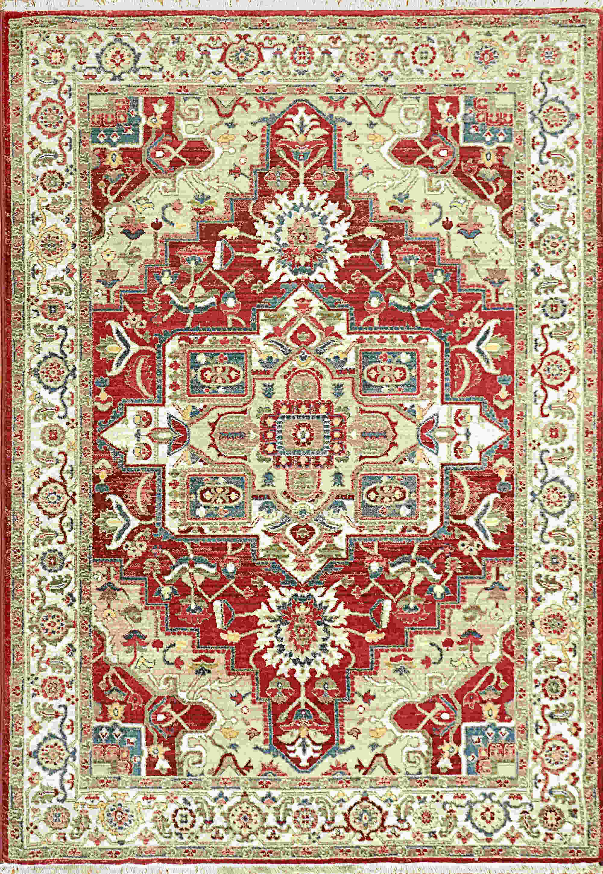 Dynamic Juno Ivory-red Transitional Rug 6882-130