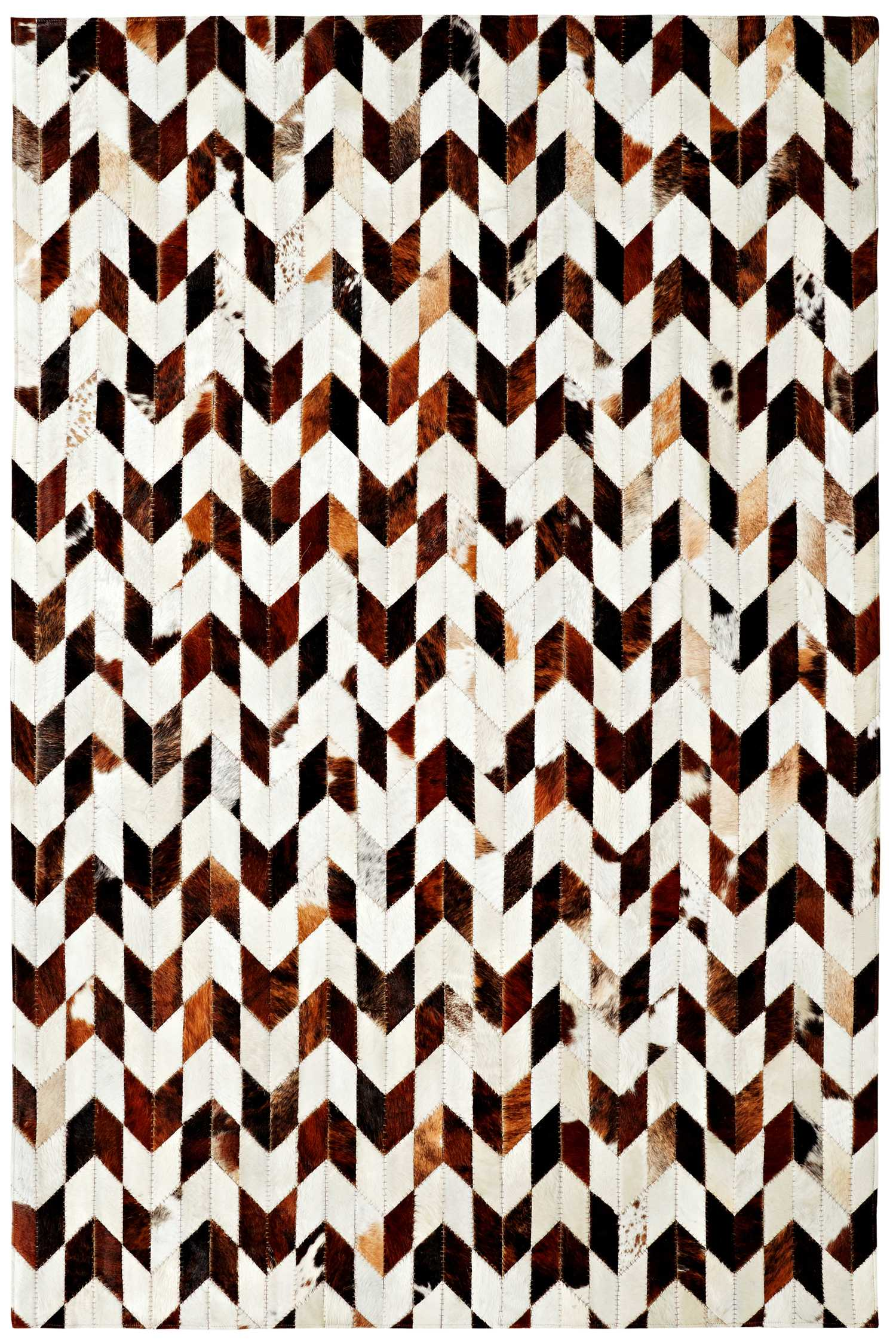 Dynamic Rugs Leatherwork Geometric Ivory/brown 8106 Area Rug