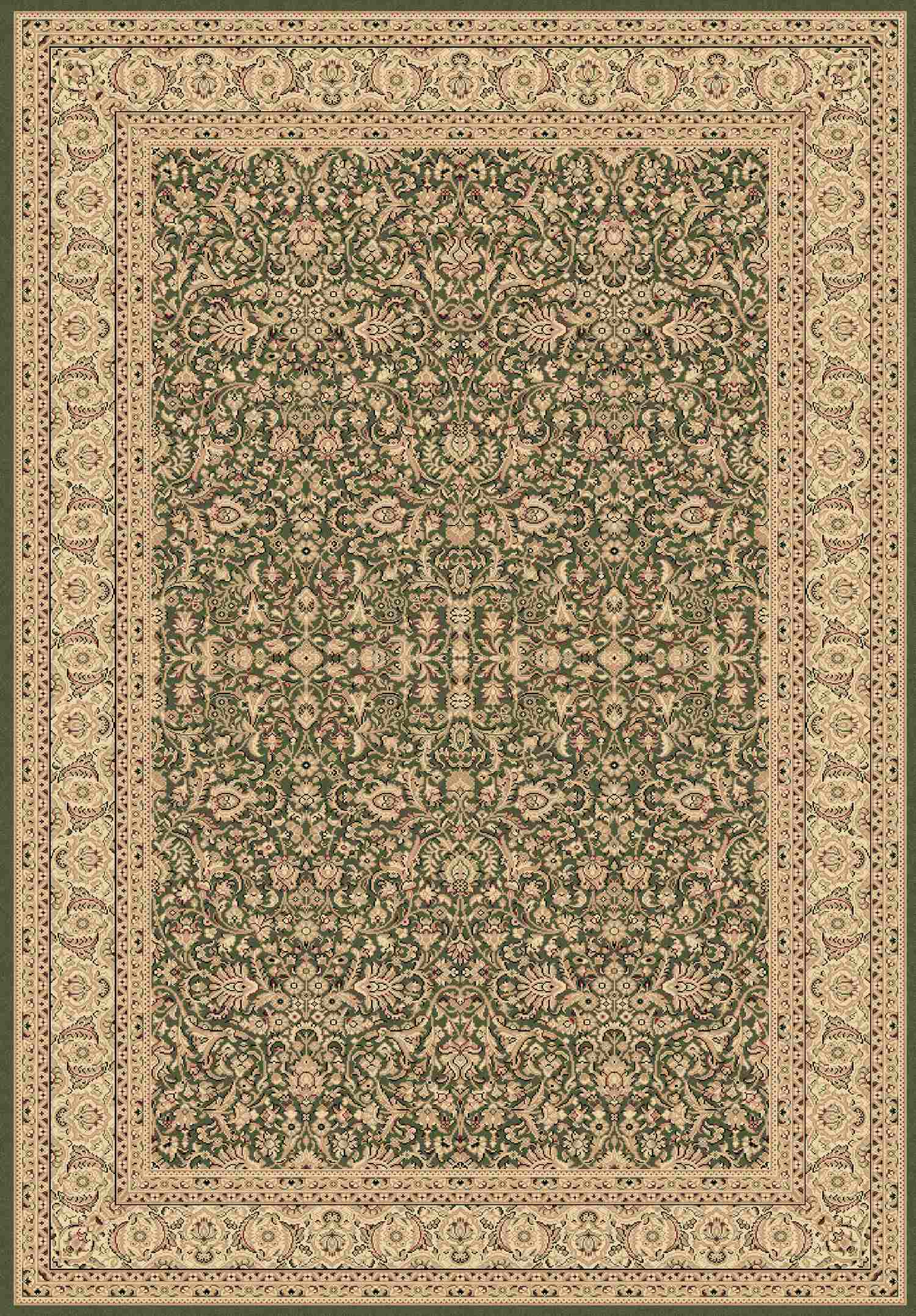 Dynamic Rugs Legacy Classic Green 58004 Area Rug