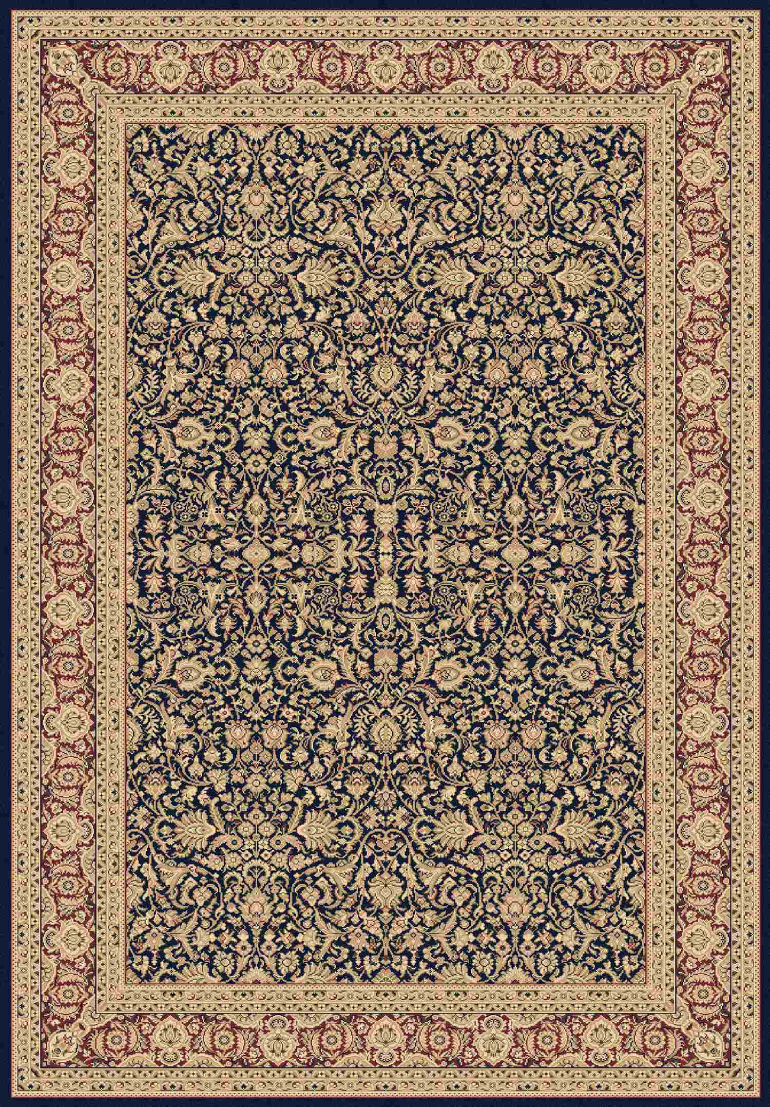 Dynamic Rugs Legacy Classic Navy 58004 Area Rug
