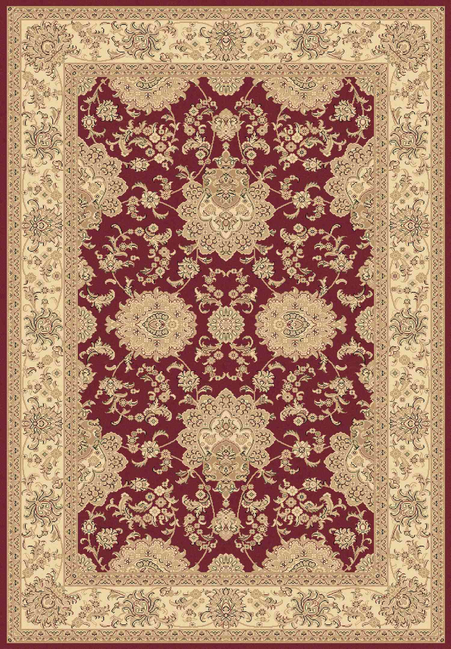 Dynamic Rugs Legacy Classic Red 58019 Area Rug