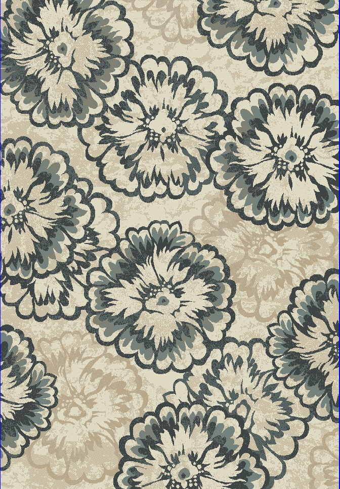 Dynamic Rugs Melody Floral Ivory 985013 Area Rug