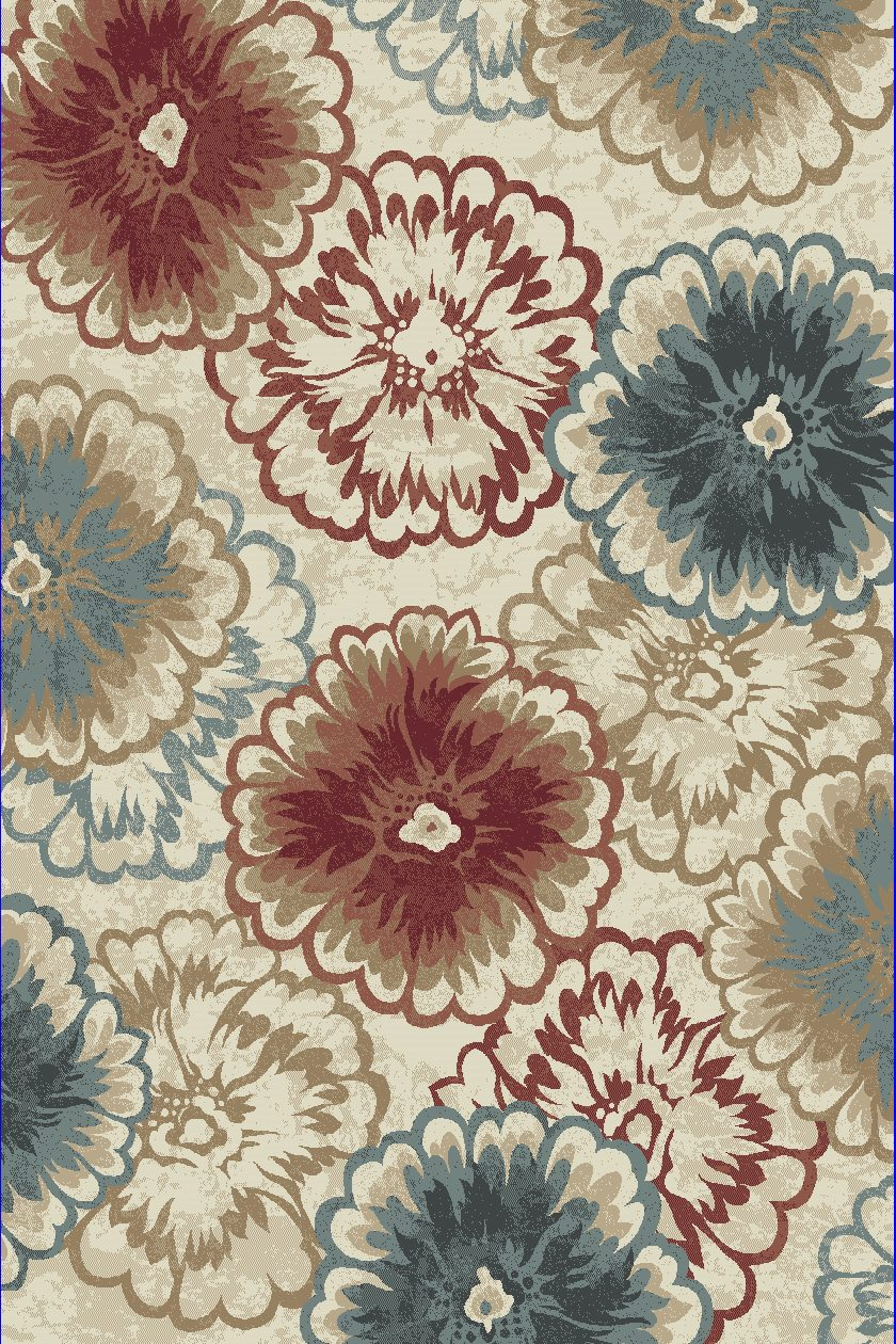 Dynamic Rugs Melody Floral Multi 985013 Area Rug