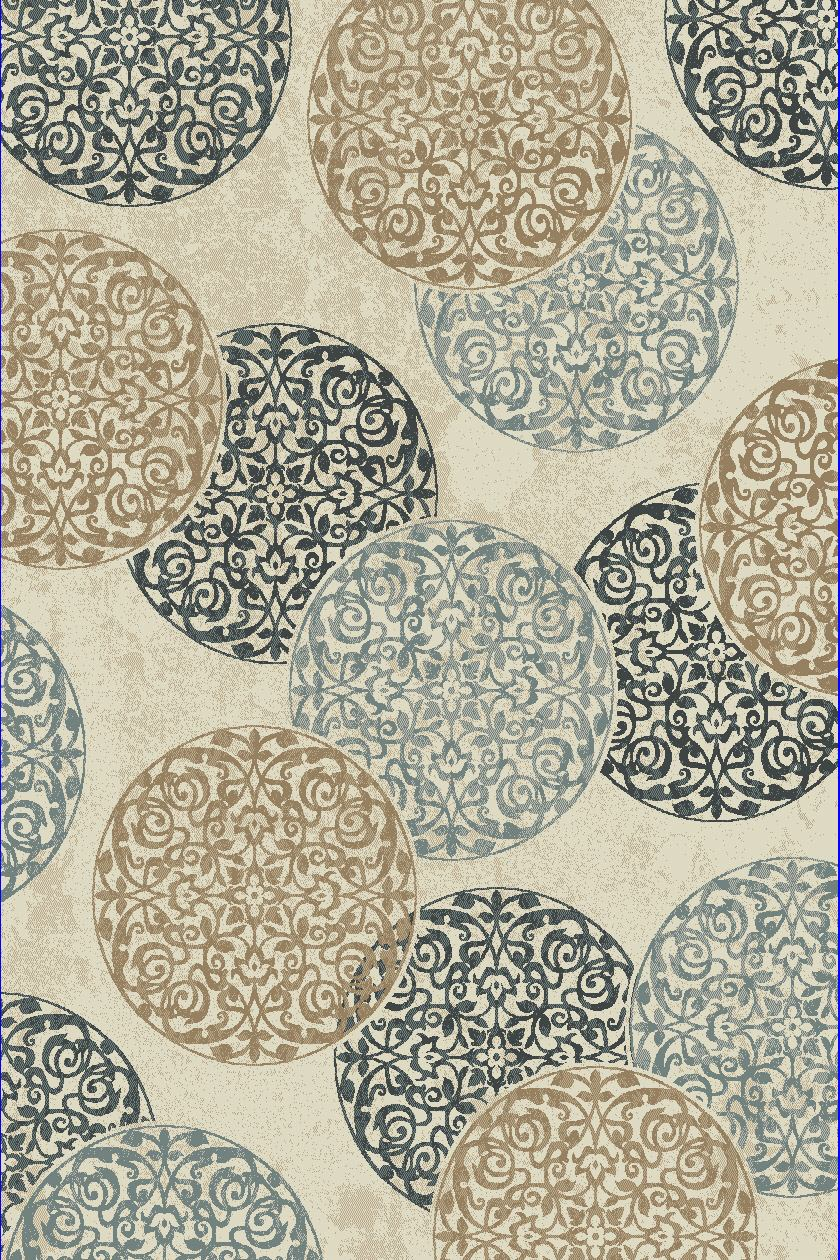 Dynamic Rugs Melody Medallion/damask Ivory 985014 Area Rug