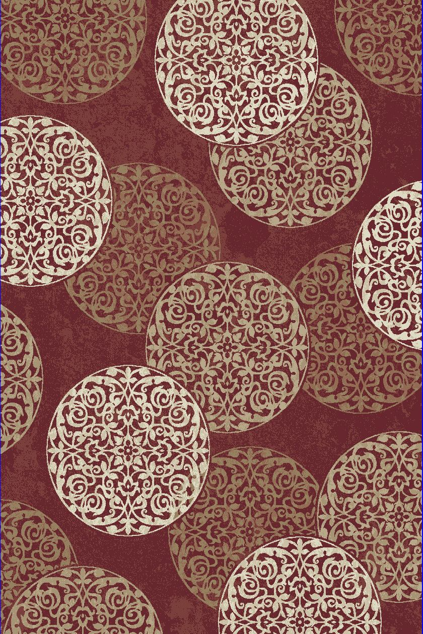 Dynamic Rugs Melody Medallion/damask Red 985014 Area Rug