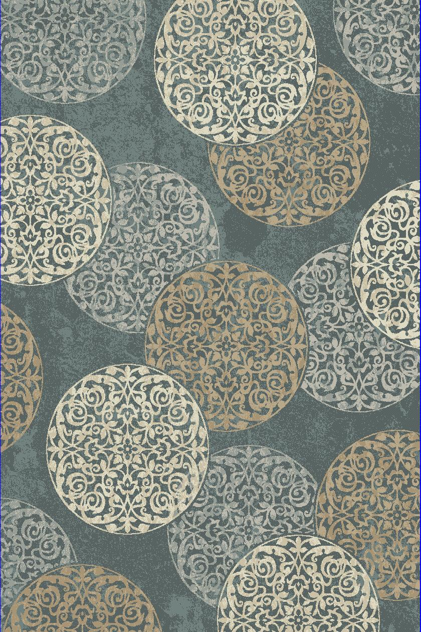 Dynamic Rugs Melody Medallion/damask Blue 985014 Area Rug