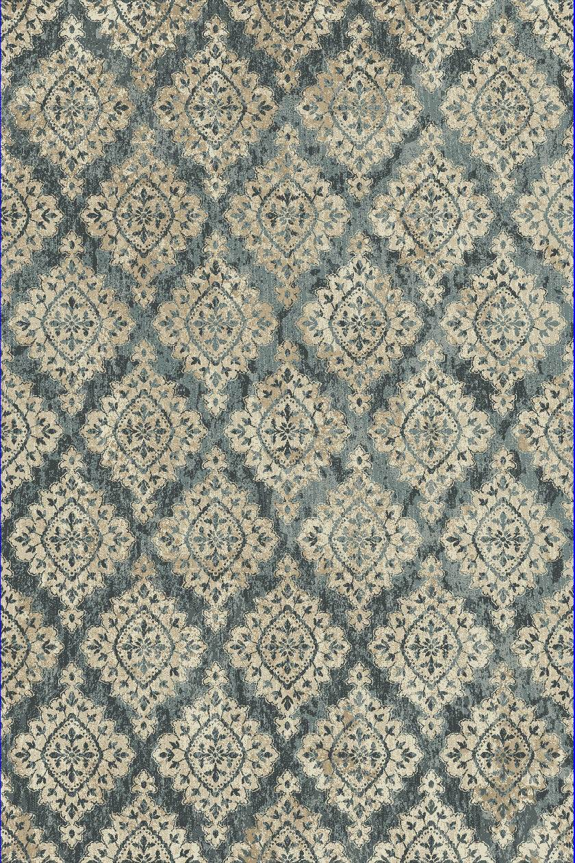Dynamic Rugs Melody Medallion/damask Blue 985015 Area Rug
