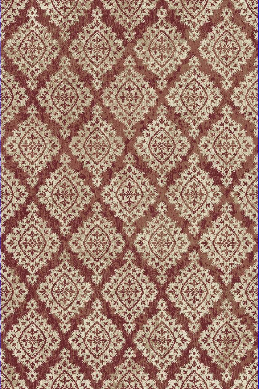Dynamic Rugs Melody Medallion/damask Terracotta 985015 Area Rug