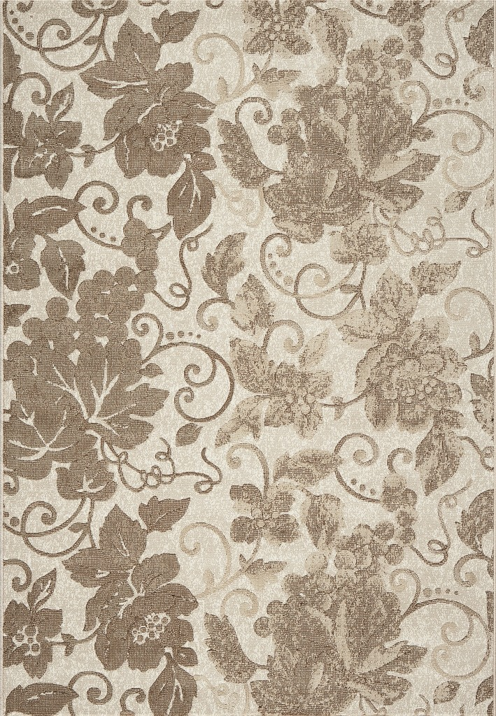 Dynamic Rugs Mysterio Floral Ivory 1201 Area Rug