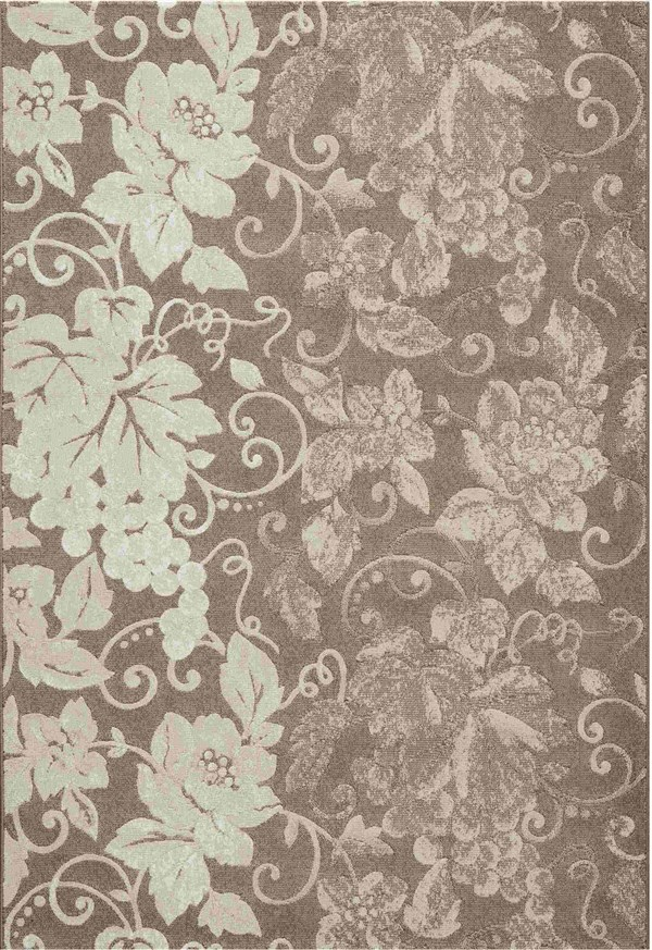 Dynamic Rugs Mysterio Floral Brown 1201 Area Rug