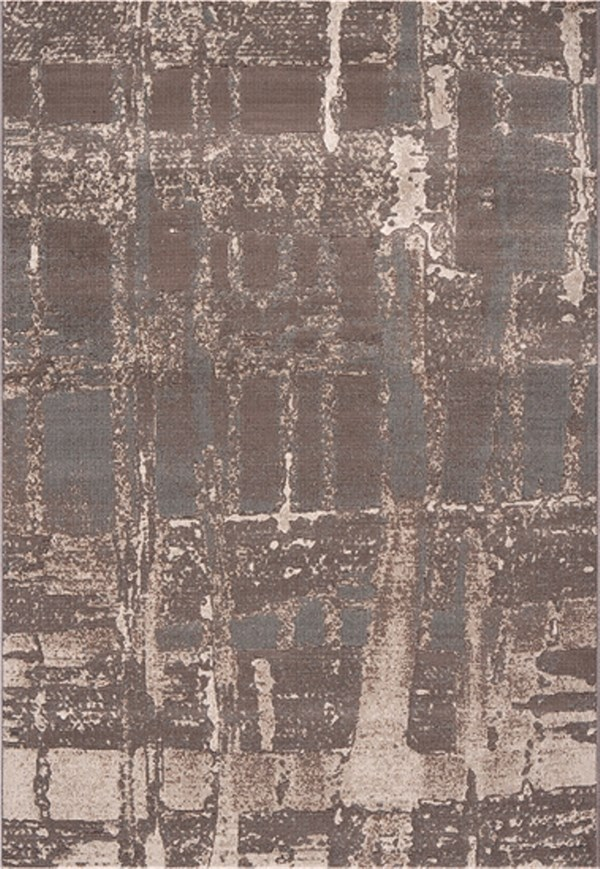 Dynamic Rugs Mysterio Abstract Silver 1205 Area Rug