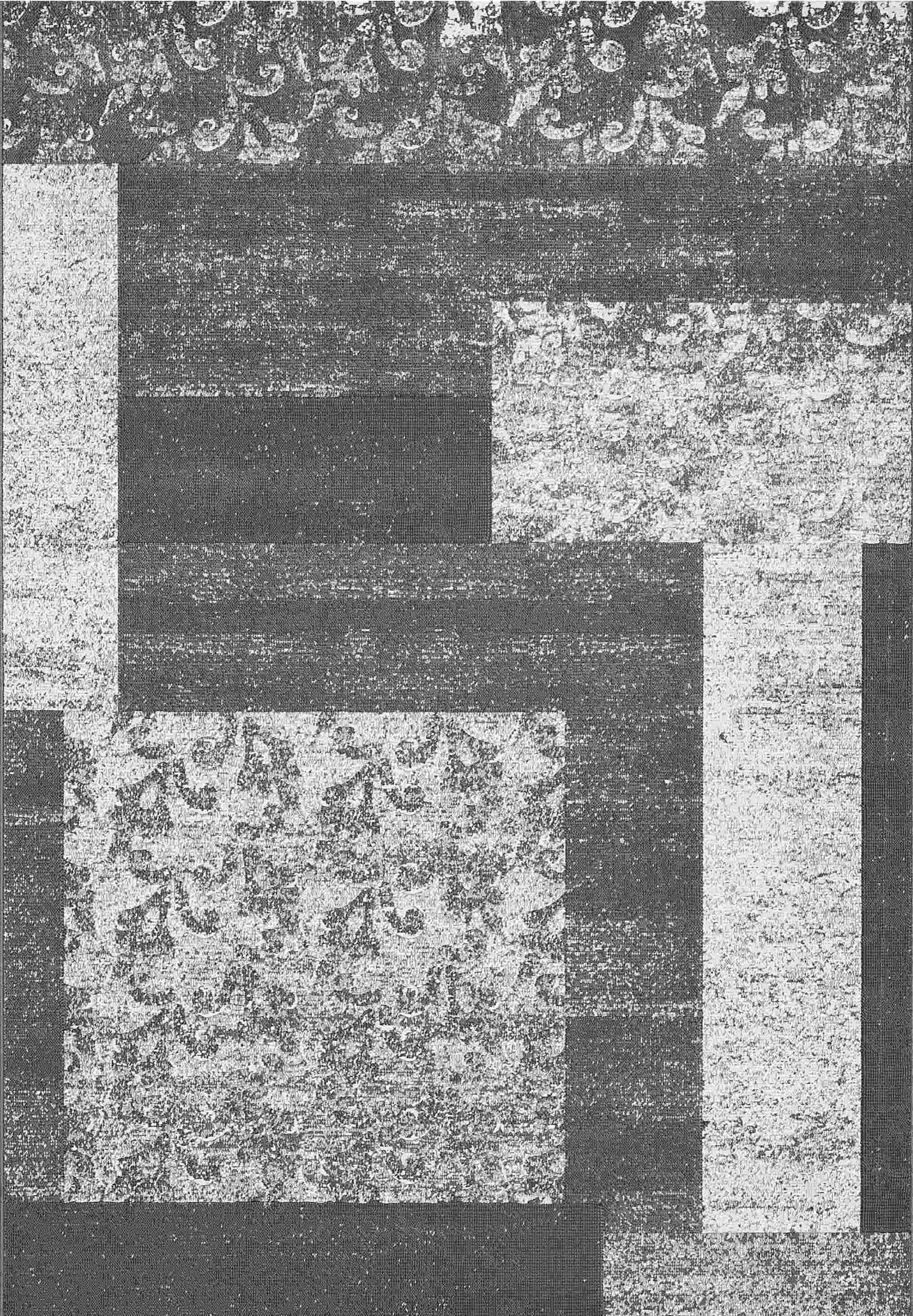 Dynamic Rugs Mysterio Floral Silver 1207 Area Rug