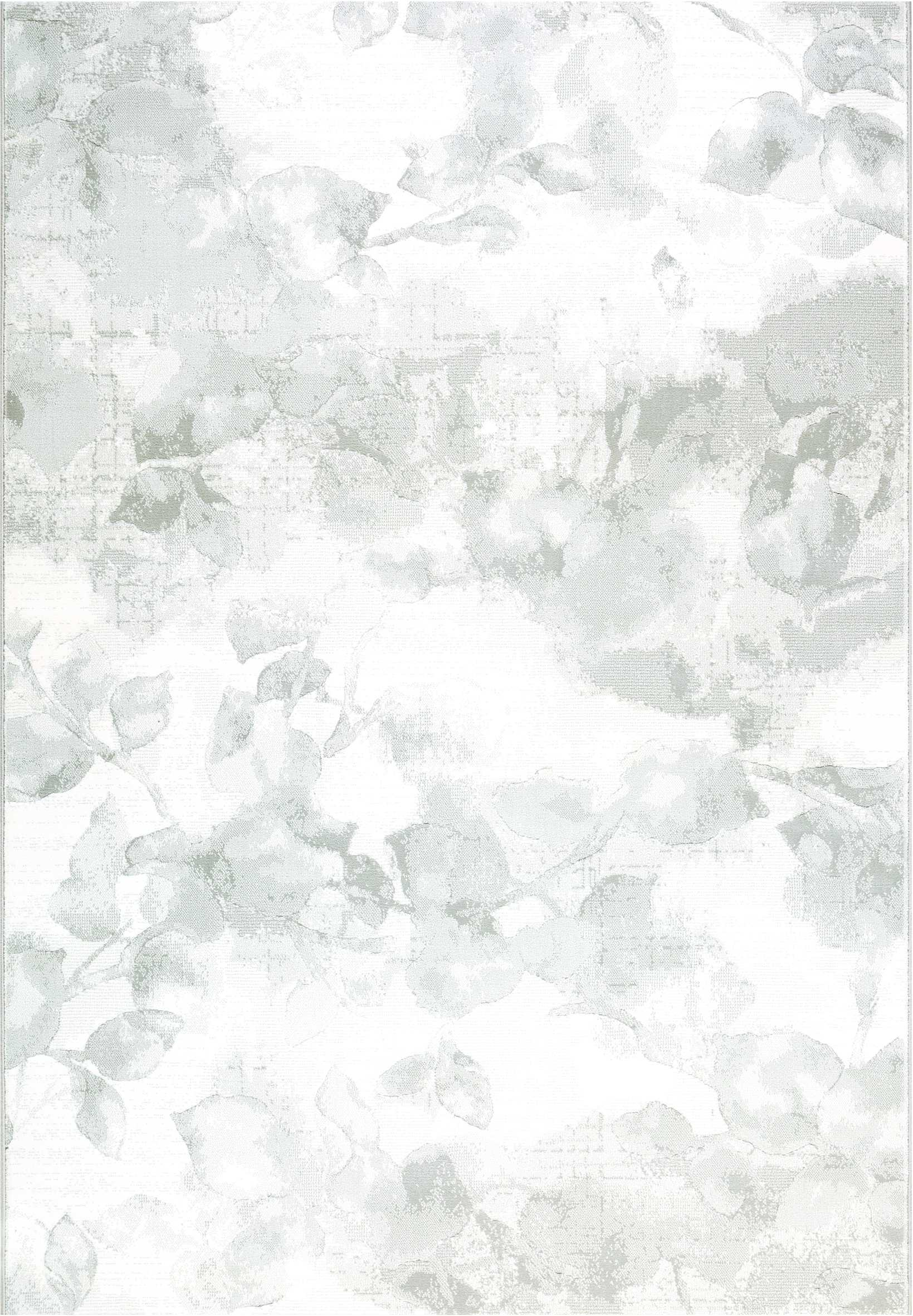 Dynamic Rugs Mysterio Floral Silver 12134 Area Rug