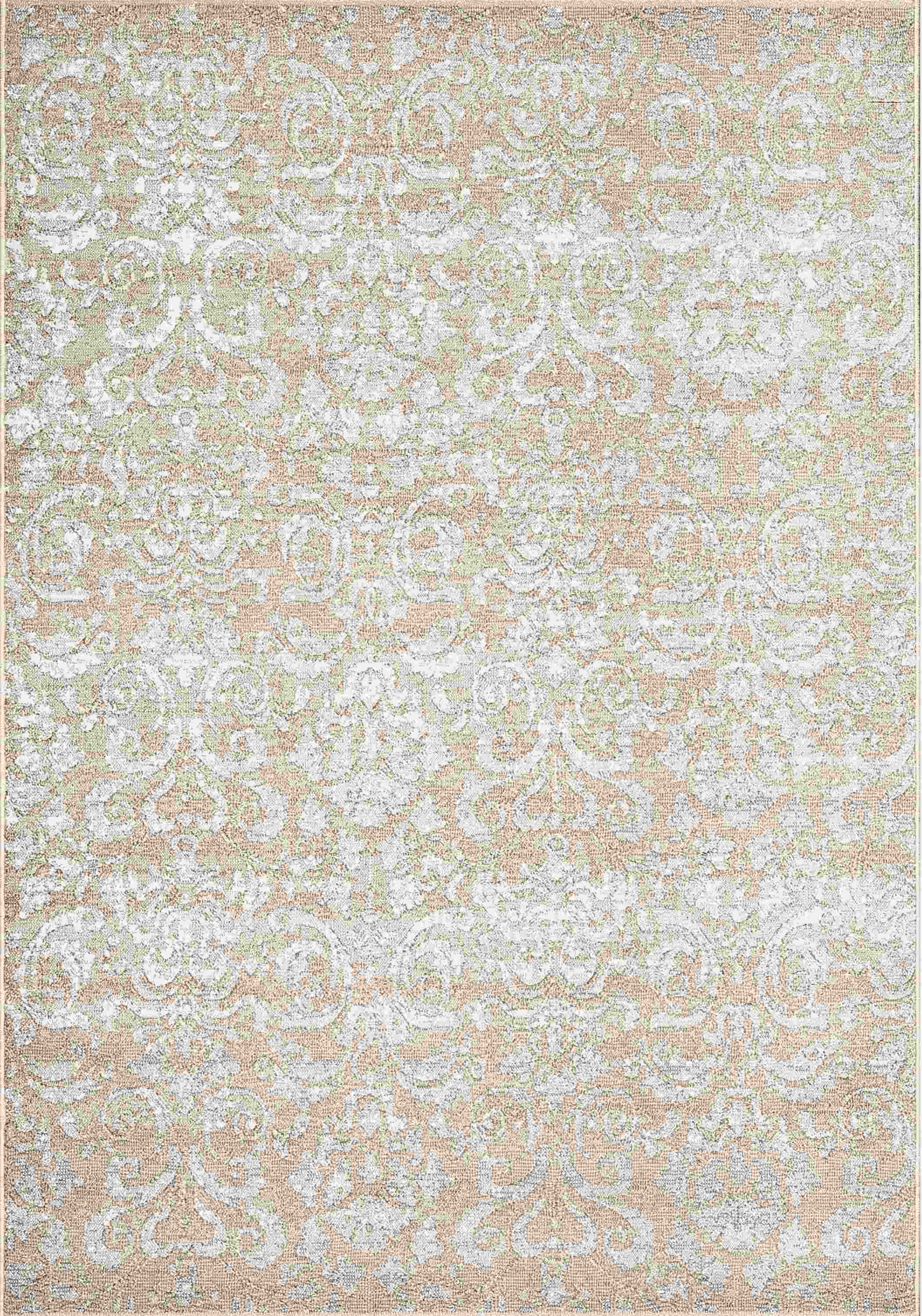 Dynamic Rugs Mysterio Medallion/damask Ivory 1217 Area Rug