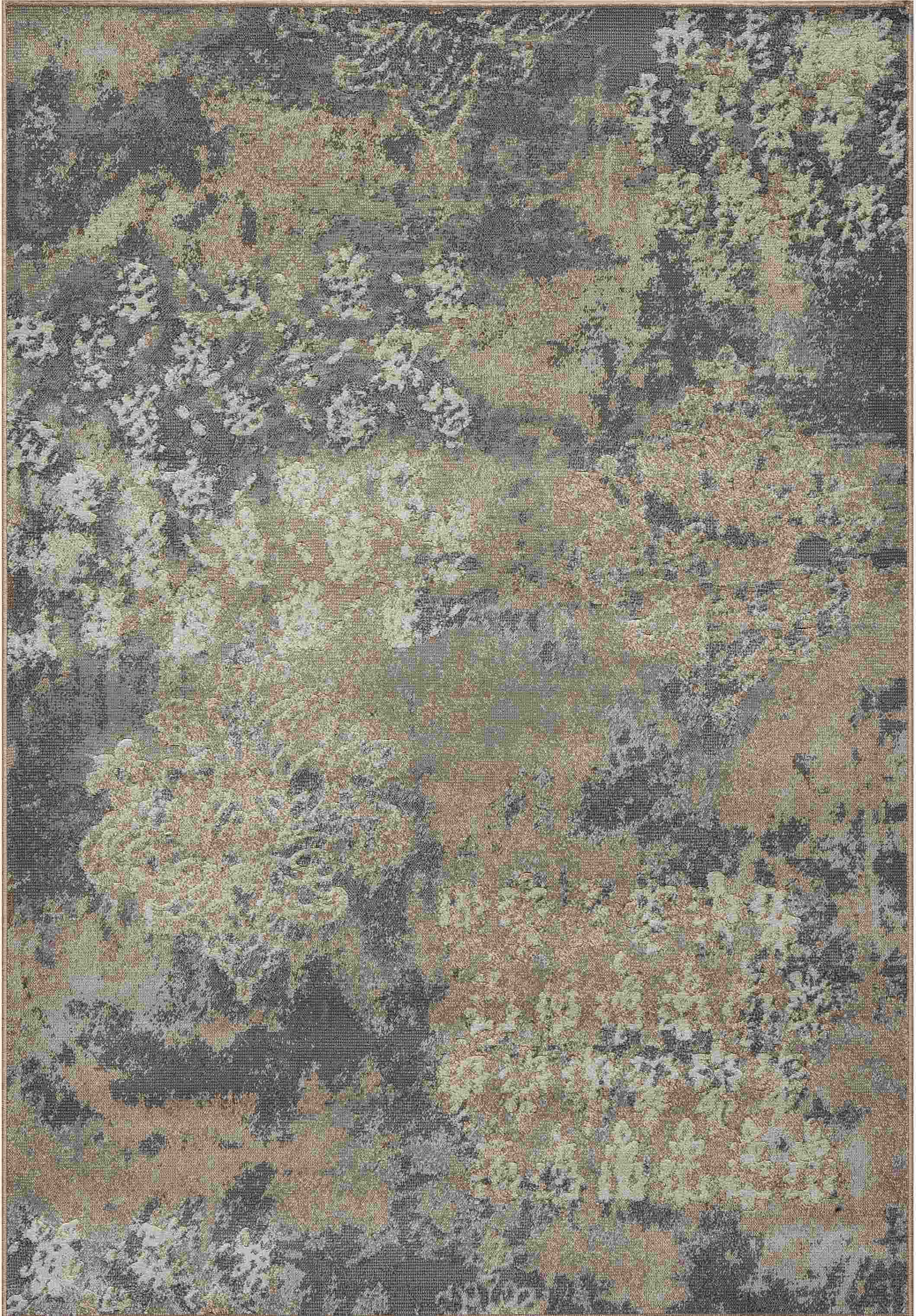 Dynamic Rugs Mysterio Medallion/damask Silver 1220 Area Rug