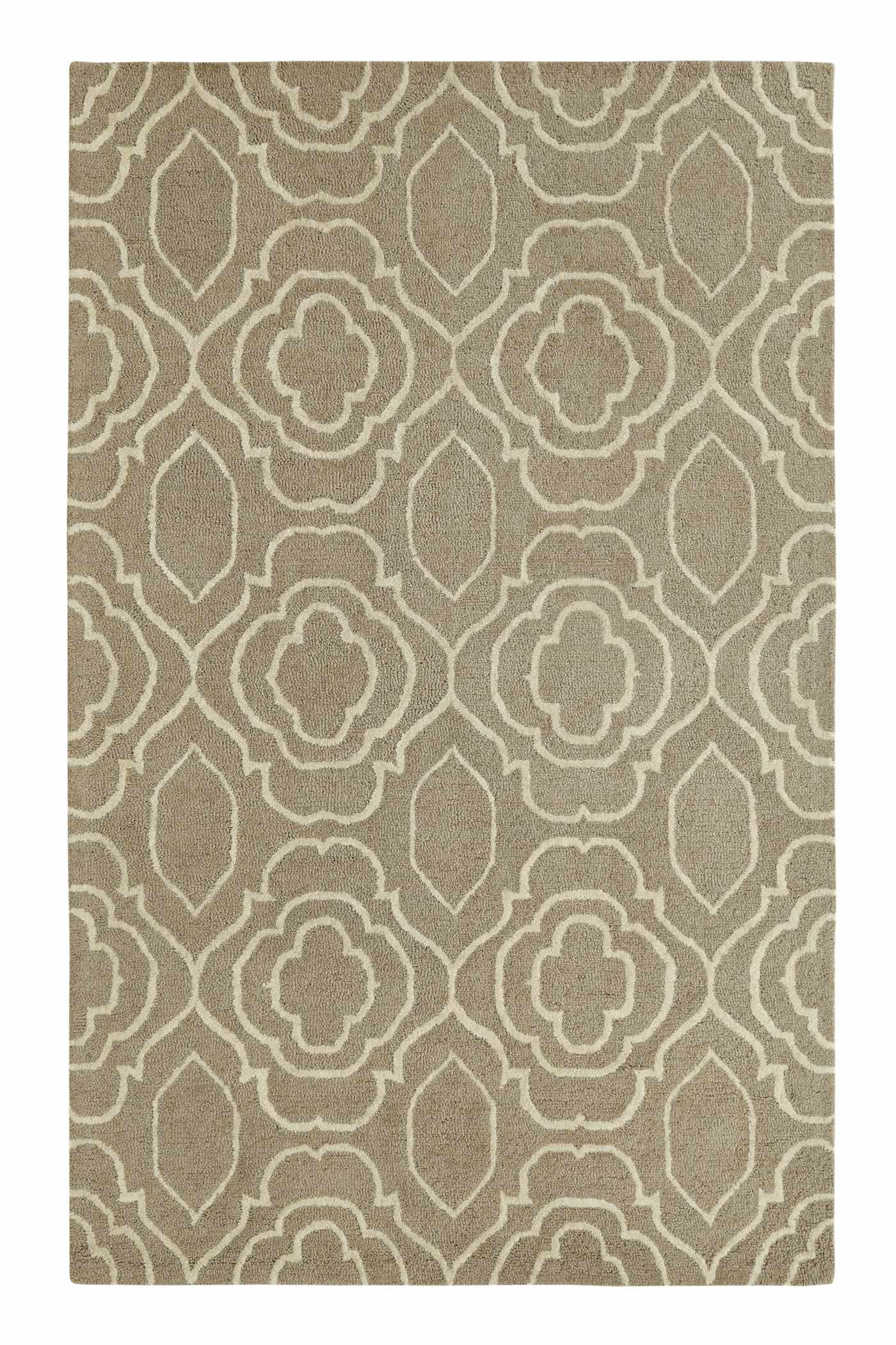 Dynamic Rugs Palace Medallion/damask Silver/ivory 5551 Area Rug