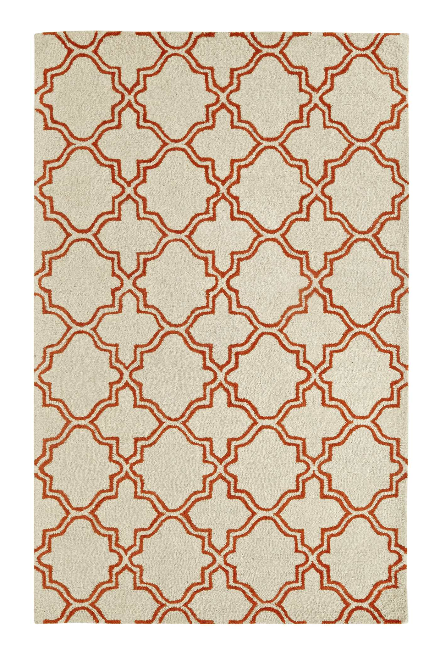 Dynamic Rugs Palace Geometric Ivory/orange 5568 Area Rug