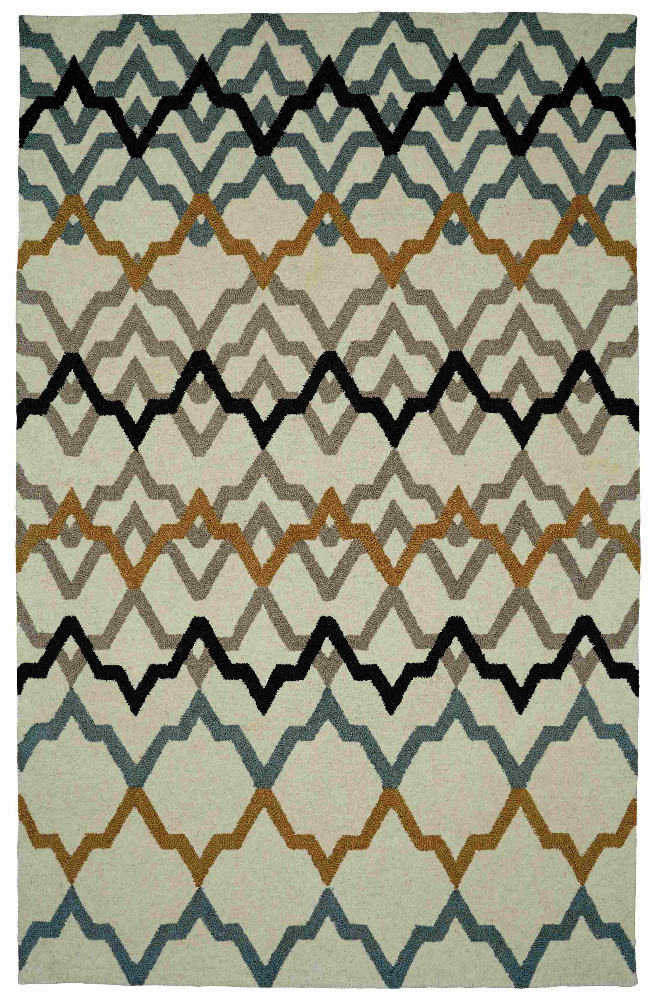 Dynamic Rugs Palace Geometric Ivory 5575 Area Rug