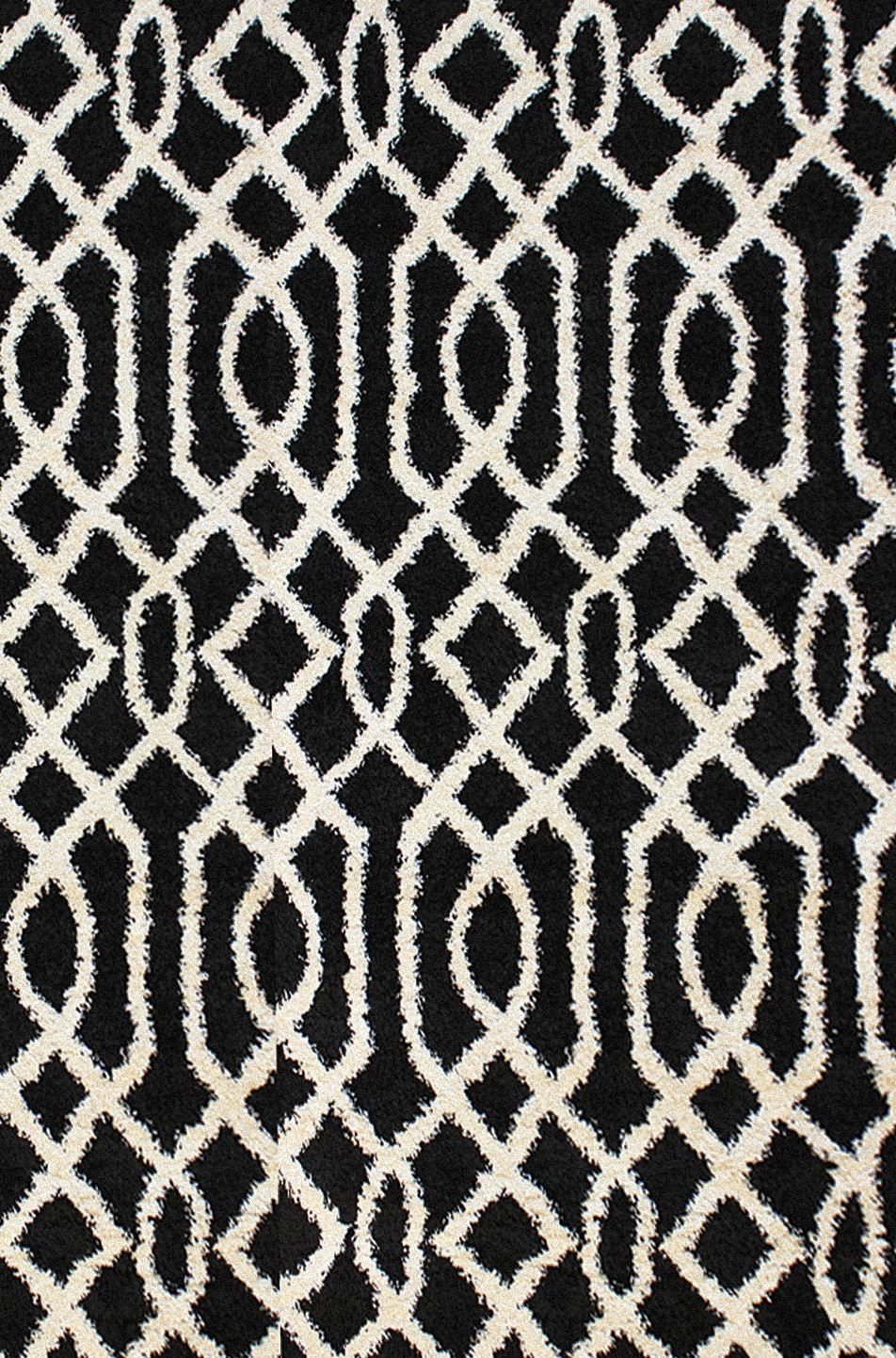 Dynamic Rugs Passion Geometric Black 6203 Area Rug