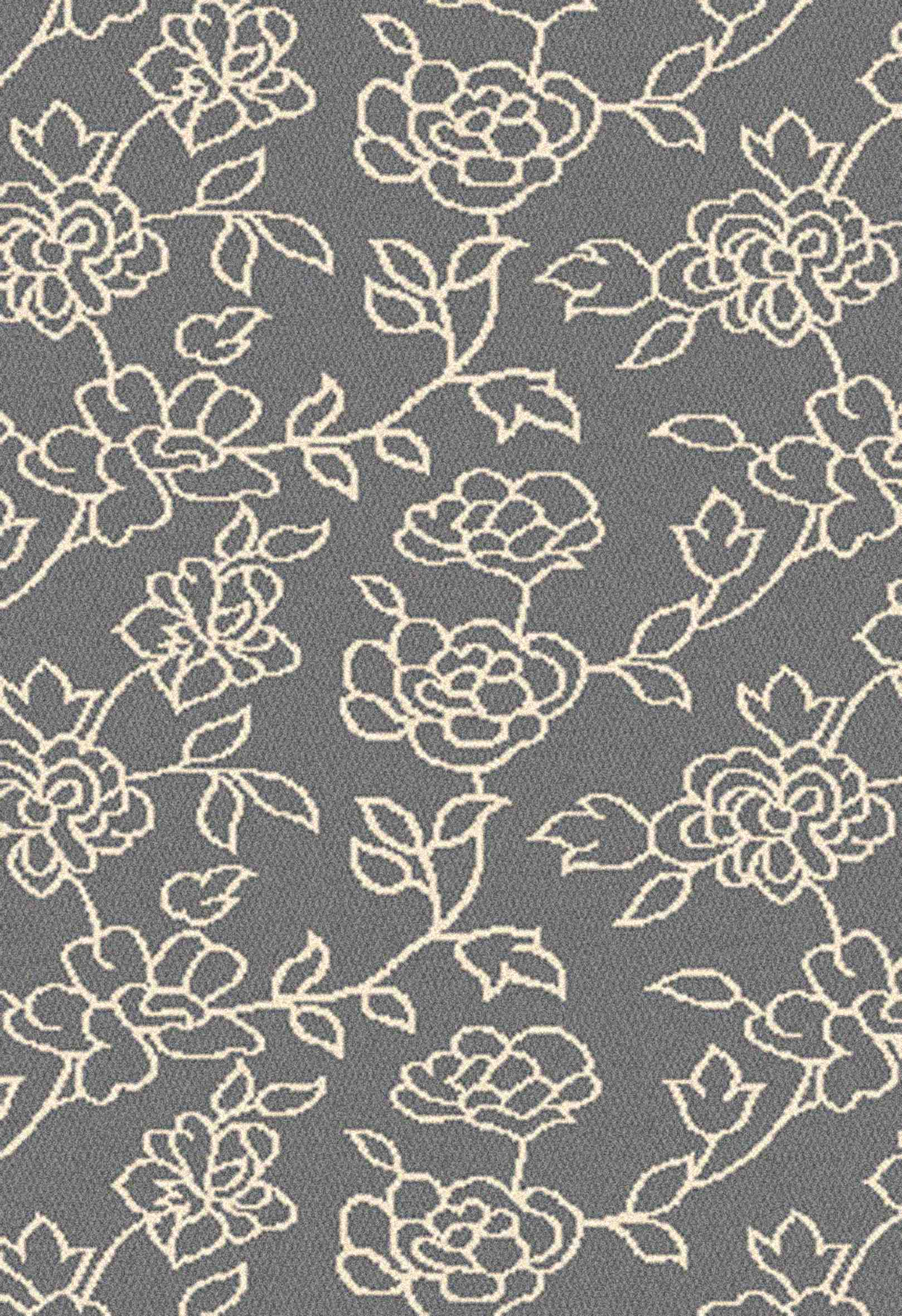Dynamic Rugs Passion Floral Grey 6206 Area Rug