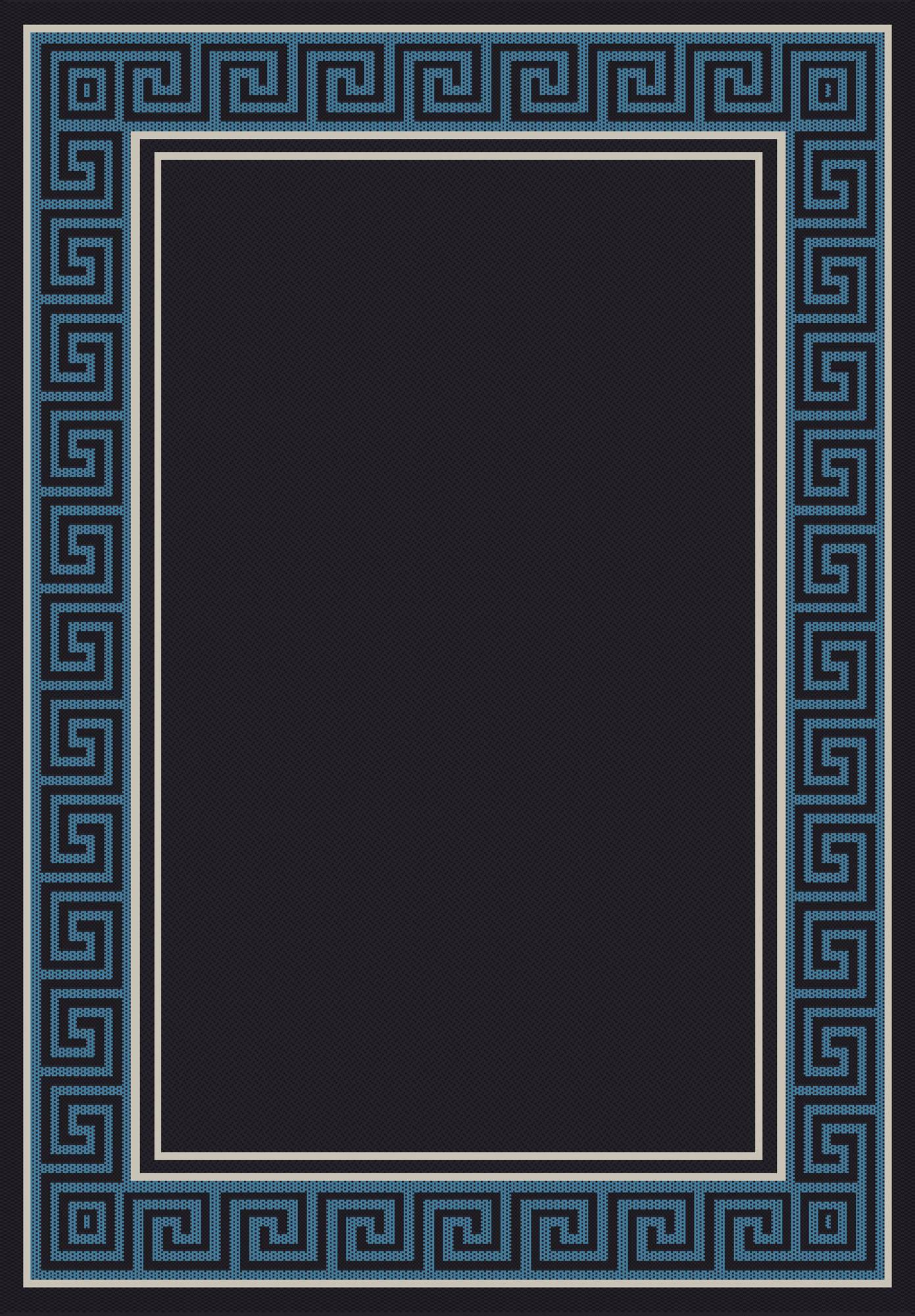 Dynamic Rugs Piazza Geometric Black/blue 0720 Area Rug
