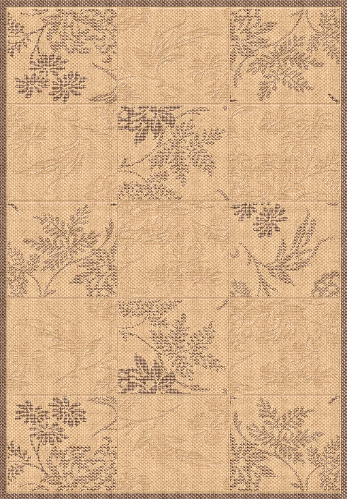 Dynamic Rugs Piazza Floral Nat/brown 2542 Area Rug