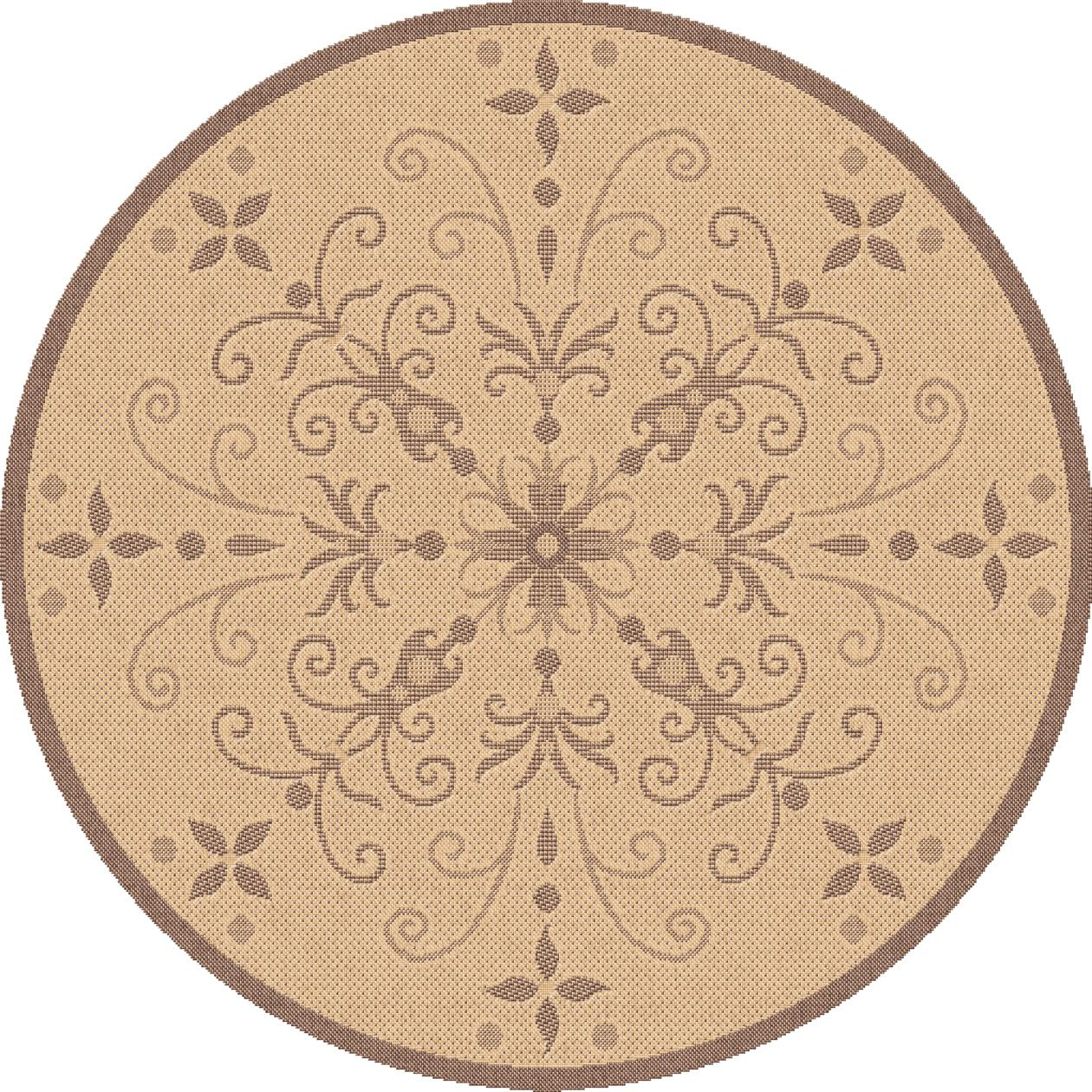 Dynamic Rugs Piazza Floral Nat/brown 2583 Area Rug